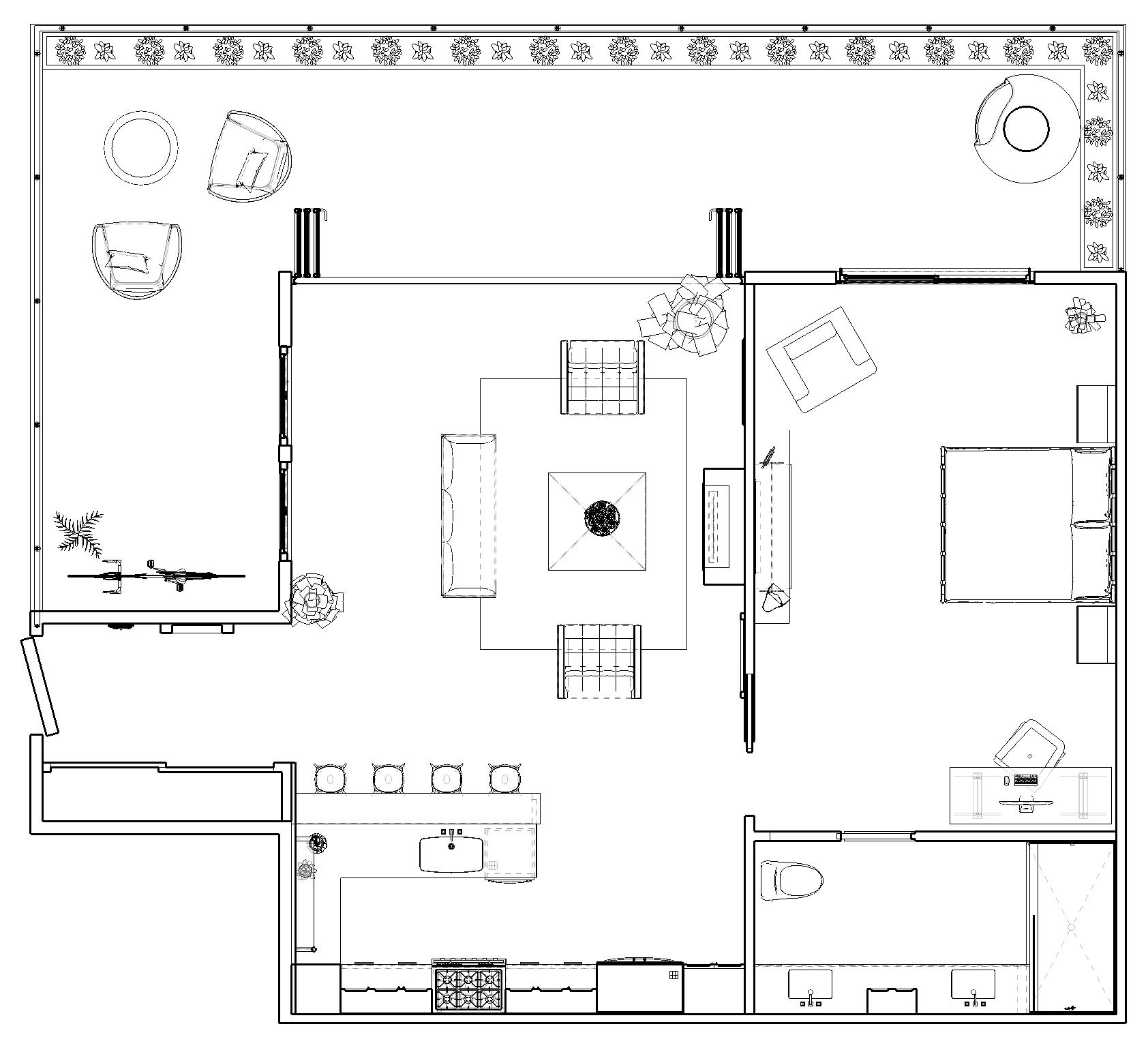 Floor Plan in SketchUp