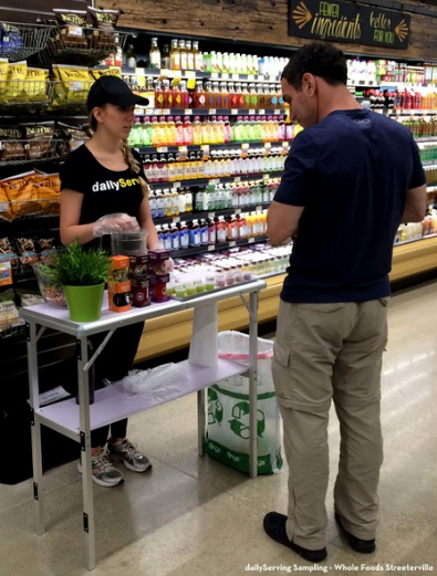 dailyServing juice sampling