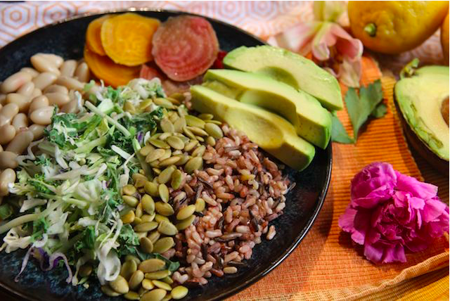 roasted beet and white bean power bowl