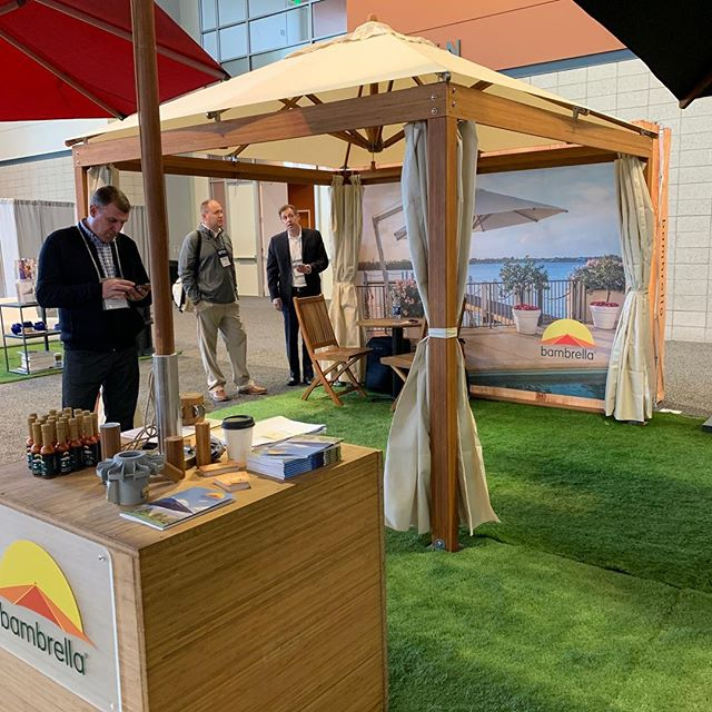 We're excited to be at the @clubmanagement1927 #CMAA Show in Nashville!  Stop by booth 714 and see the perfect #Shade Solution for your Country Club or Resort and pick up some Sizzlin' Shade Sauce!  Visit BambrellaUSA.com #umbrella #umbrellas #countryclub