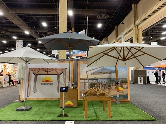 First day at @HDExpo in Las Vegas! Stop by Booth 3771 to see The World's Strongest #Umbrellas! For more info visit: BambrellaUSA.com #Umbrella #Shade #Design #OutdoorLiving #Hospitality #HDExpo2019