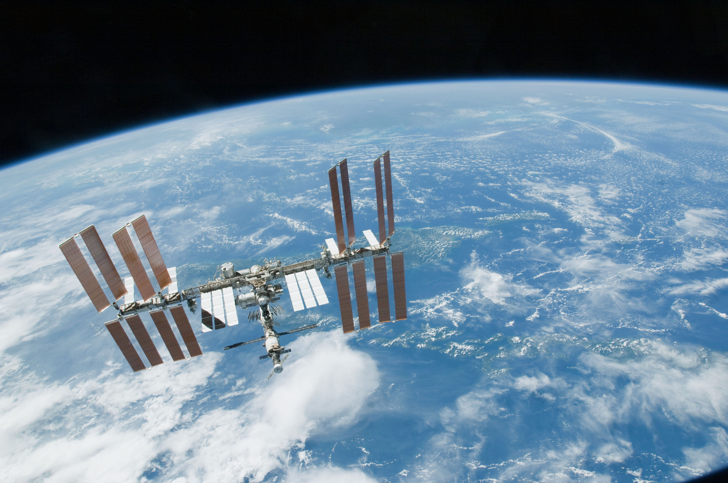 Photo above: the  International Space Station .  Photo credit:    NASA   .