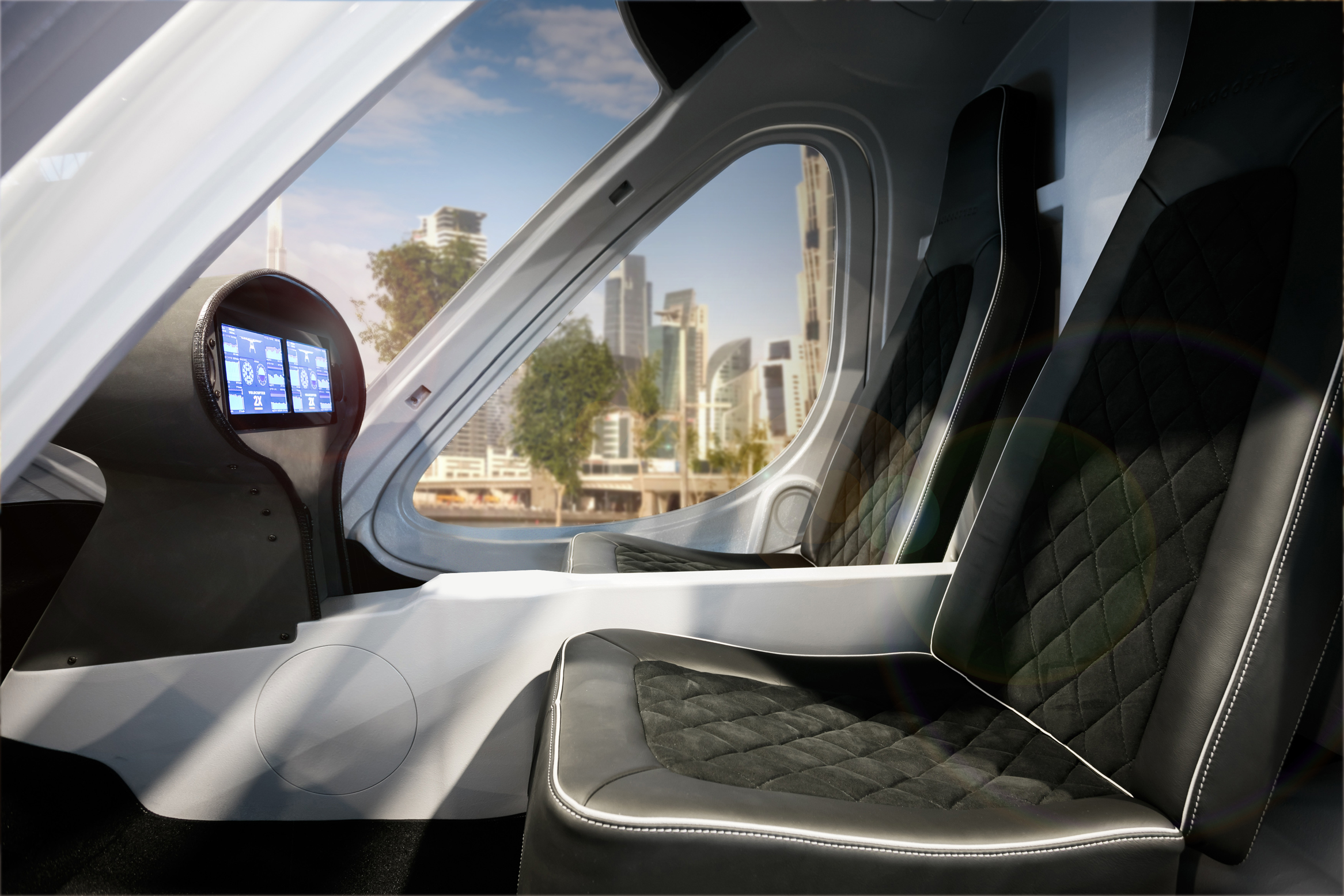 Picture above: an artist's impression of the Volocopter interior. Picture credit:  Volocopter.