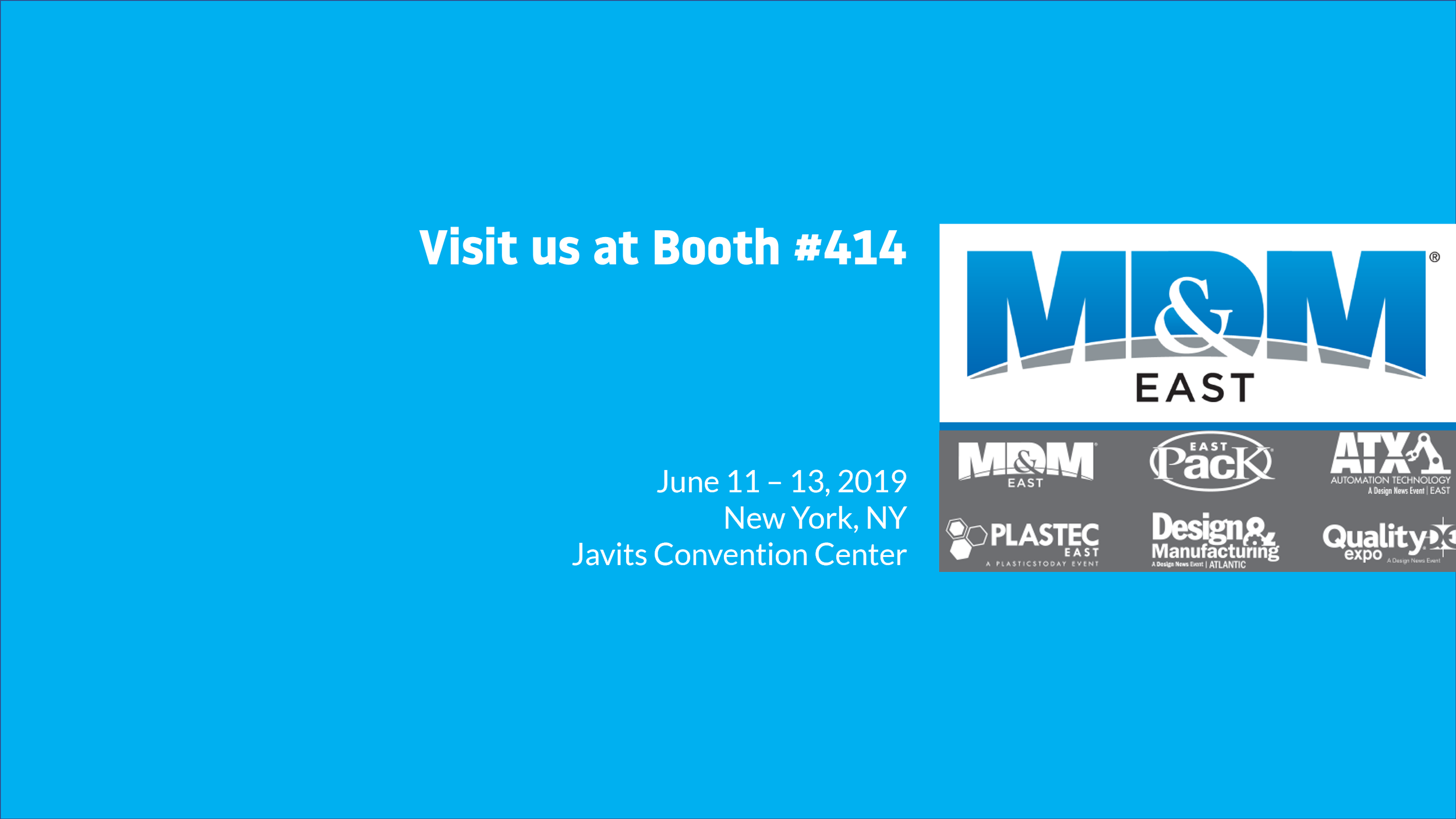 Visit Linx at MD&M East! - We'll be in booth 414 June 11-13 at the Javits Convention Center!