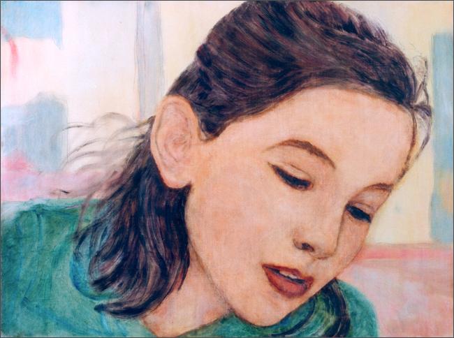 Young Woman Gazing Down