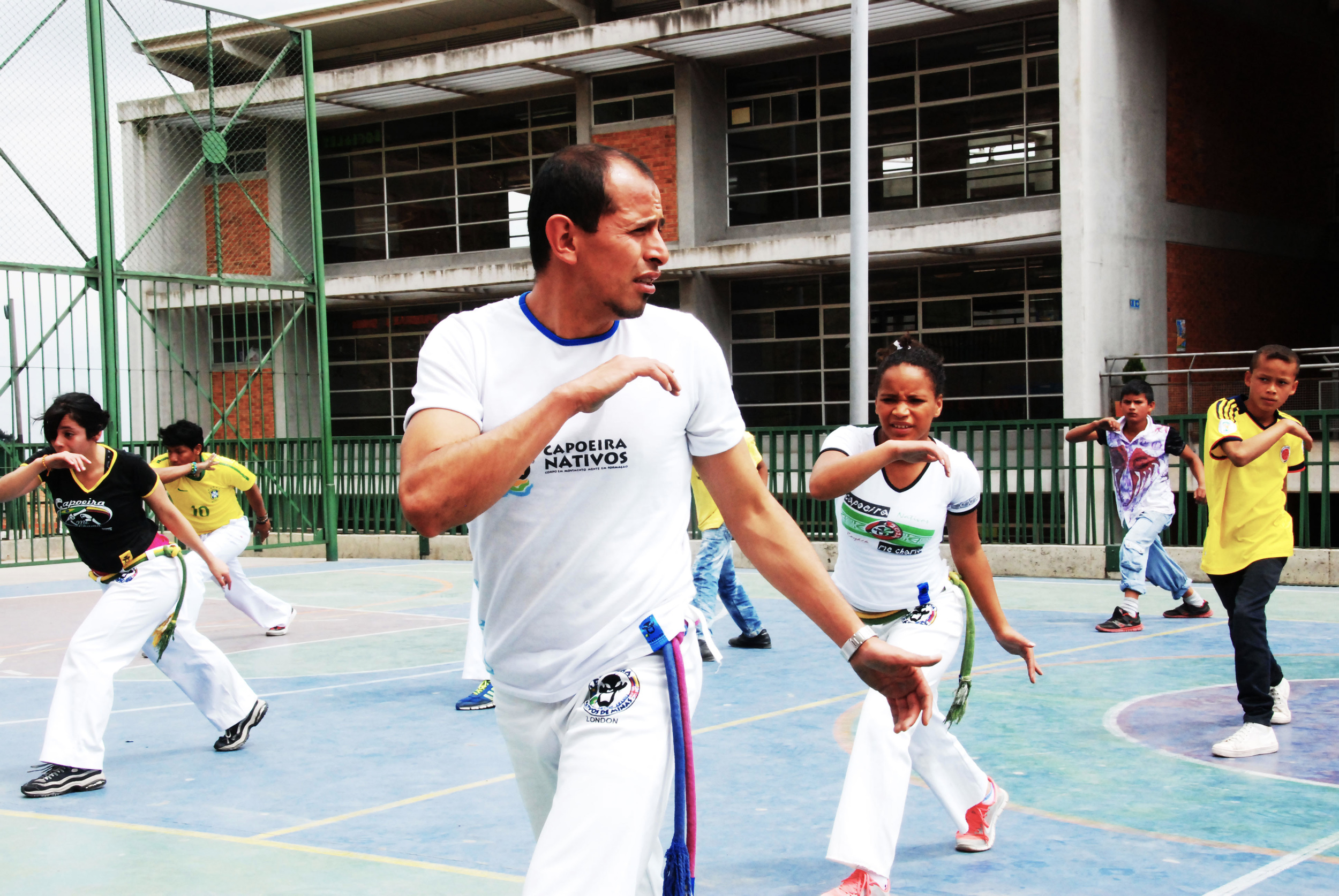 Class of capoeira in the neighborhood of Ciudad Bolivar