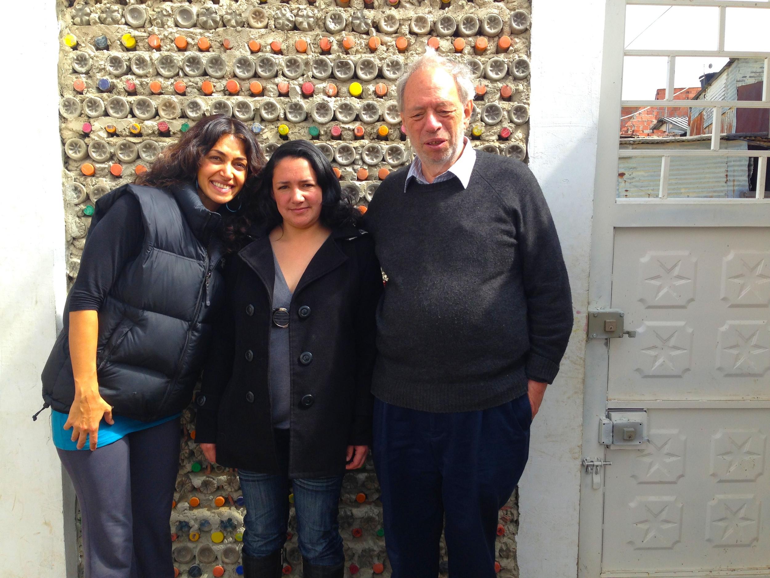 Niousha Roshani with Nohora Guerrero and David Rosen