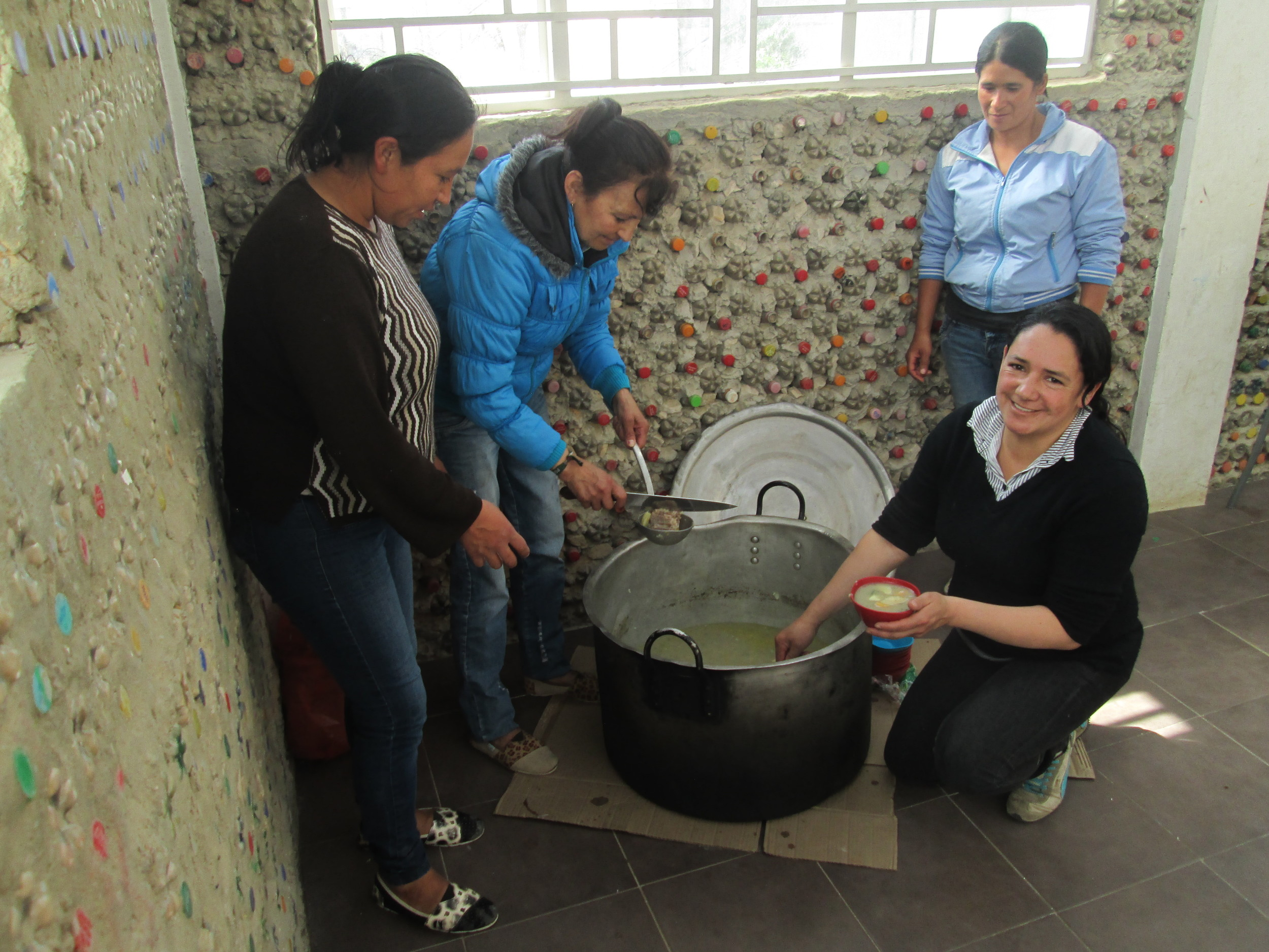 Our coordinator in Cazucá, Nohora Guerrero, and some of the women from the community prepared a delicious sancocho for everyone.