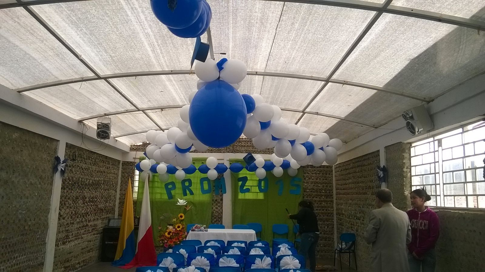 The center was nicely decorated by the students and school staff themselves