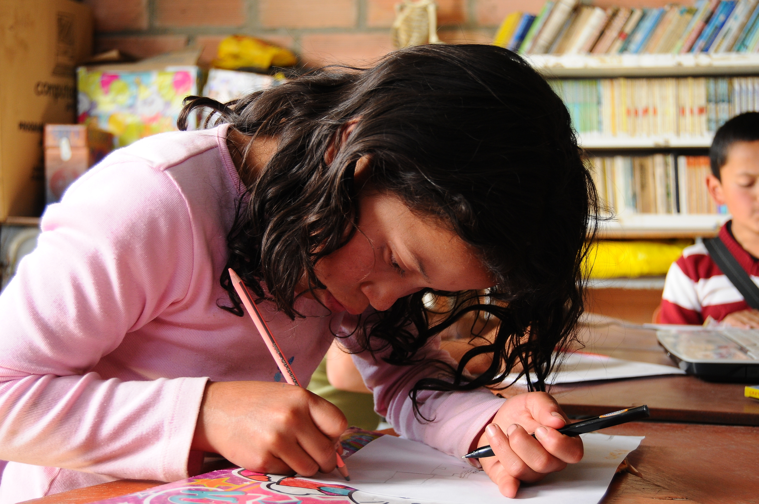 An important condition for being part of Nukanti's Child Mentoring Program is to attend school regularly.