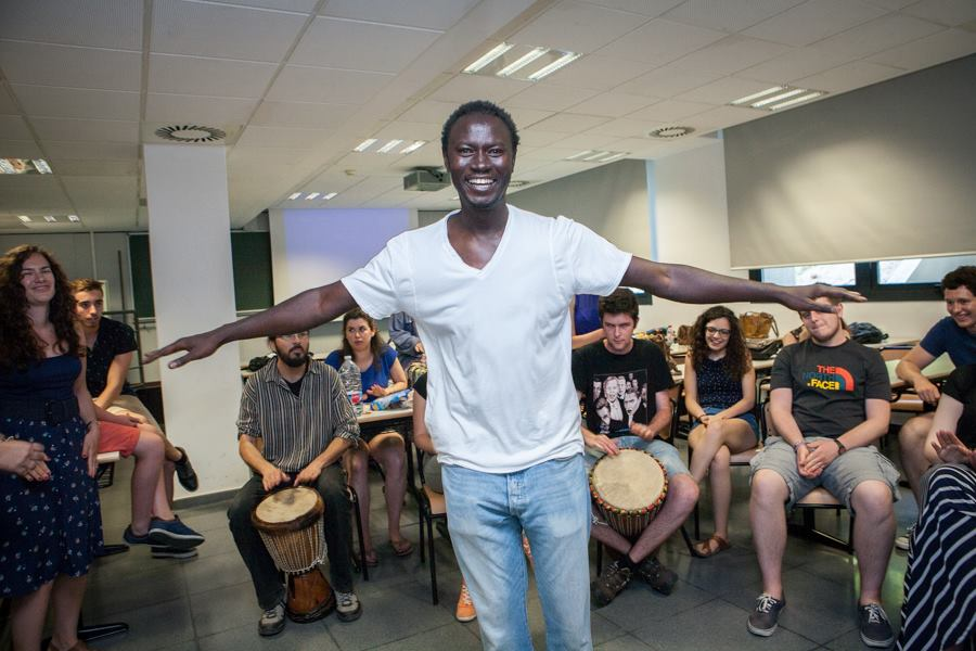"""Music workshop at """"Youth and Human Rights"""" 1, June 2015"""