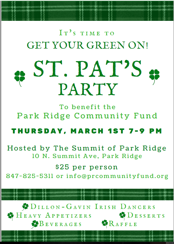 Checks payable to 'Park Ridge Community Fund'