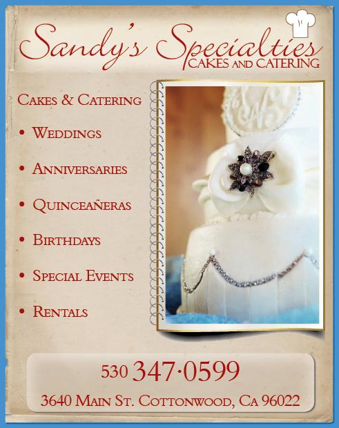 Redding Wedding Catering Sandys Specialties