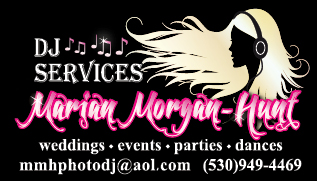 Redding Wedding DJ and Music Marian Morgan-Hunt DJ Services