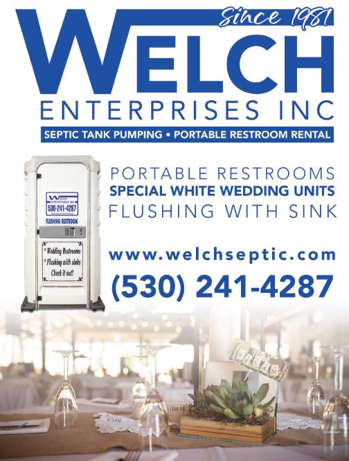 Redding Wedding Welch Enterprises Portable Restrooms