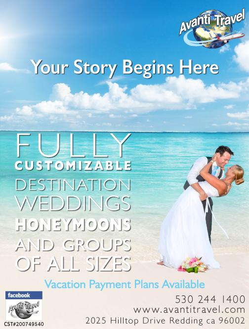 Redding Wedding Travel Desitination Avanti Travel