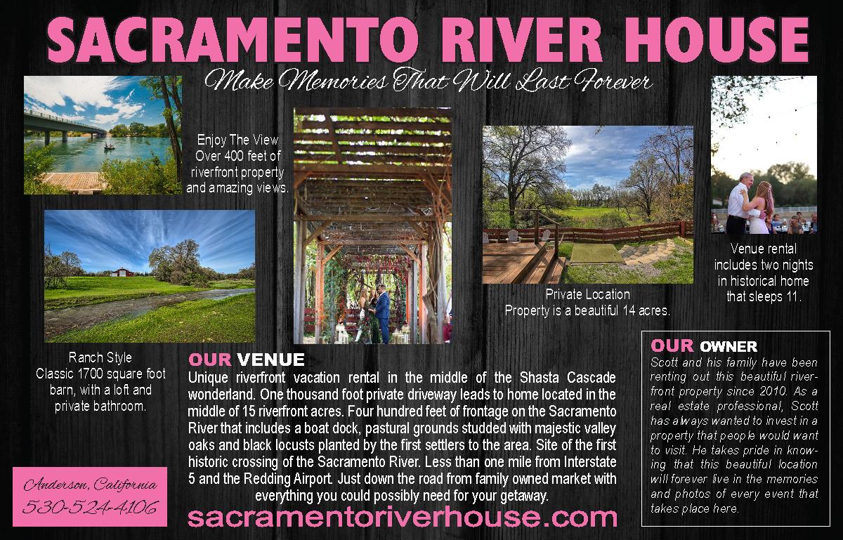 Sacramento River House North State Bridal Guide