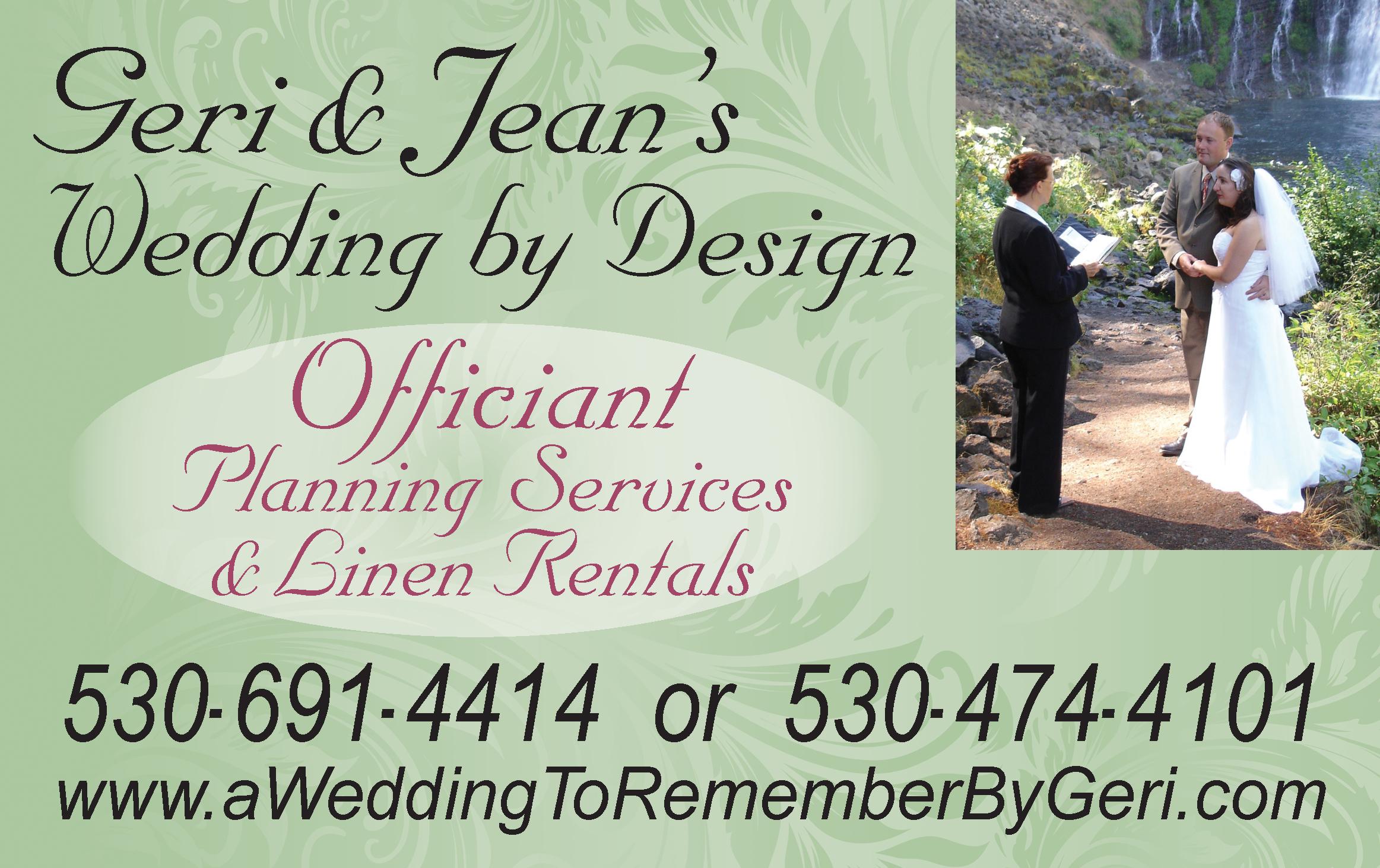 Redding Wedding Geri & Jean Officiant