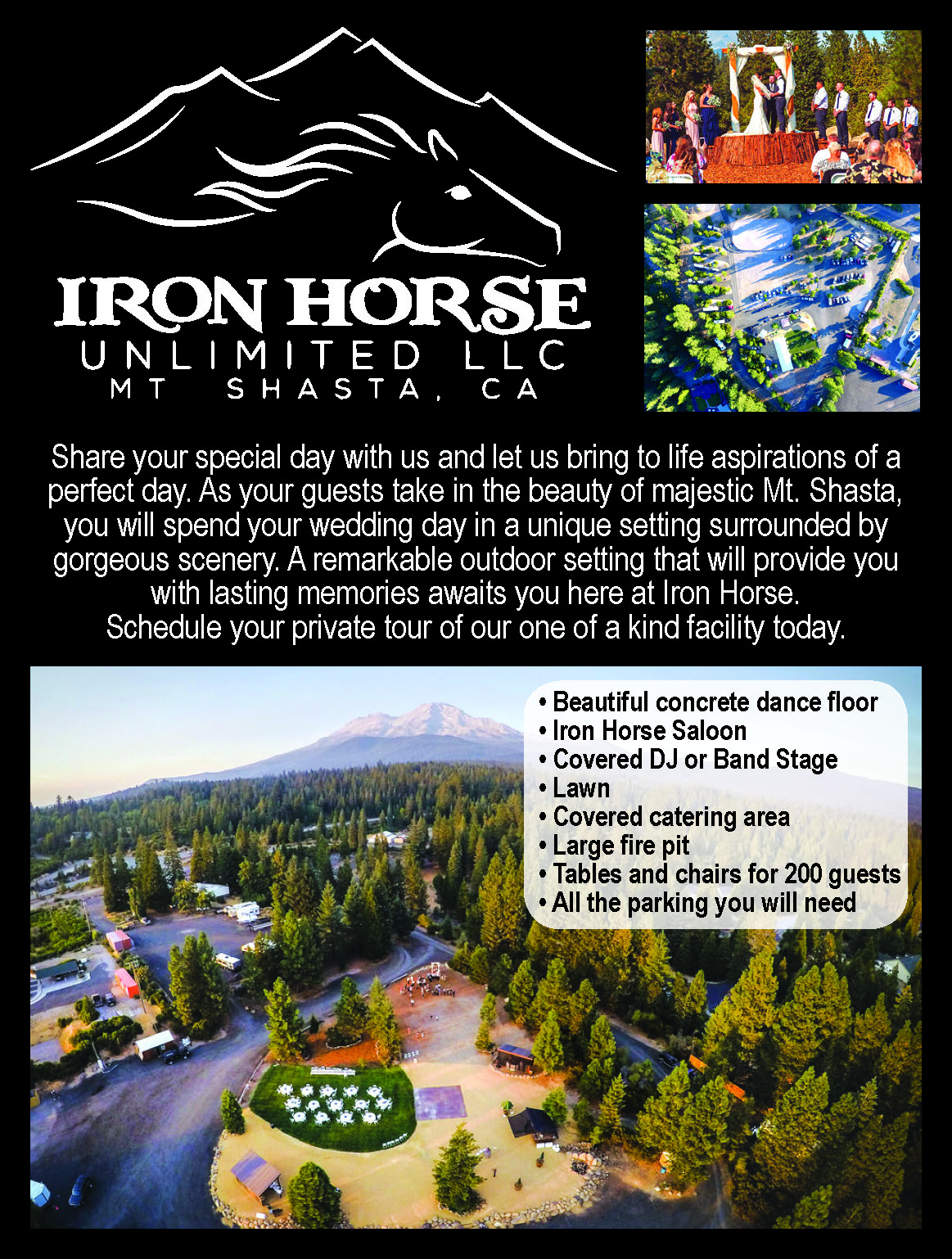 Iron Horse Redding Wedding Bridal guide venue