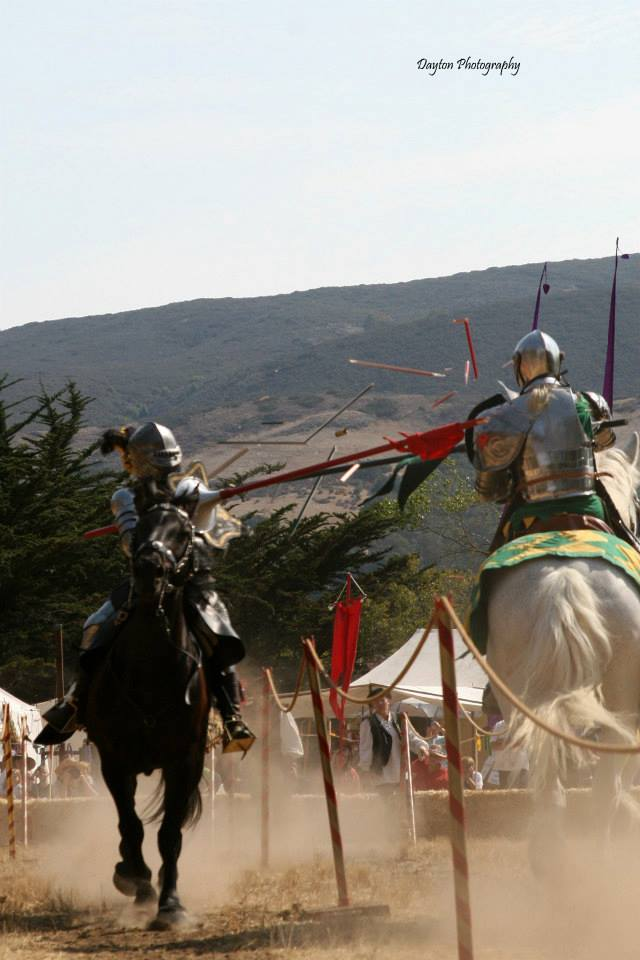 Jousting, yes, I said Jousting and that IS me on the left