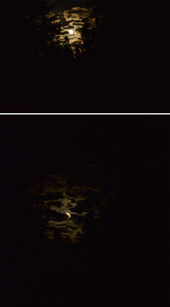 super moon long exposure