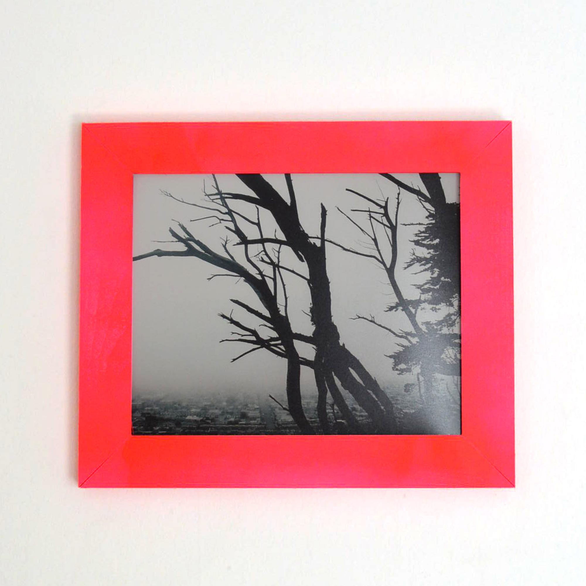 Fog & Tree in pink frame // Blog-Action