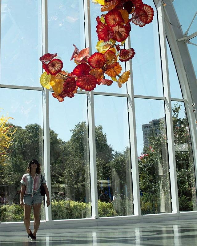 Checking out some Seattle Staples. . The Space Needle and Chihuly Garden & Glass are two iconic spots in Seattle and while they are typical and touristy they are still pretty rad. . I totally think they are worth checking out, and you can get a double ticket that gives you entrance to both.