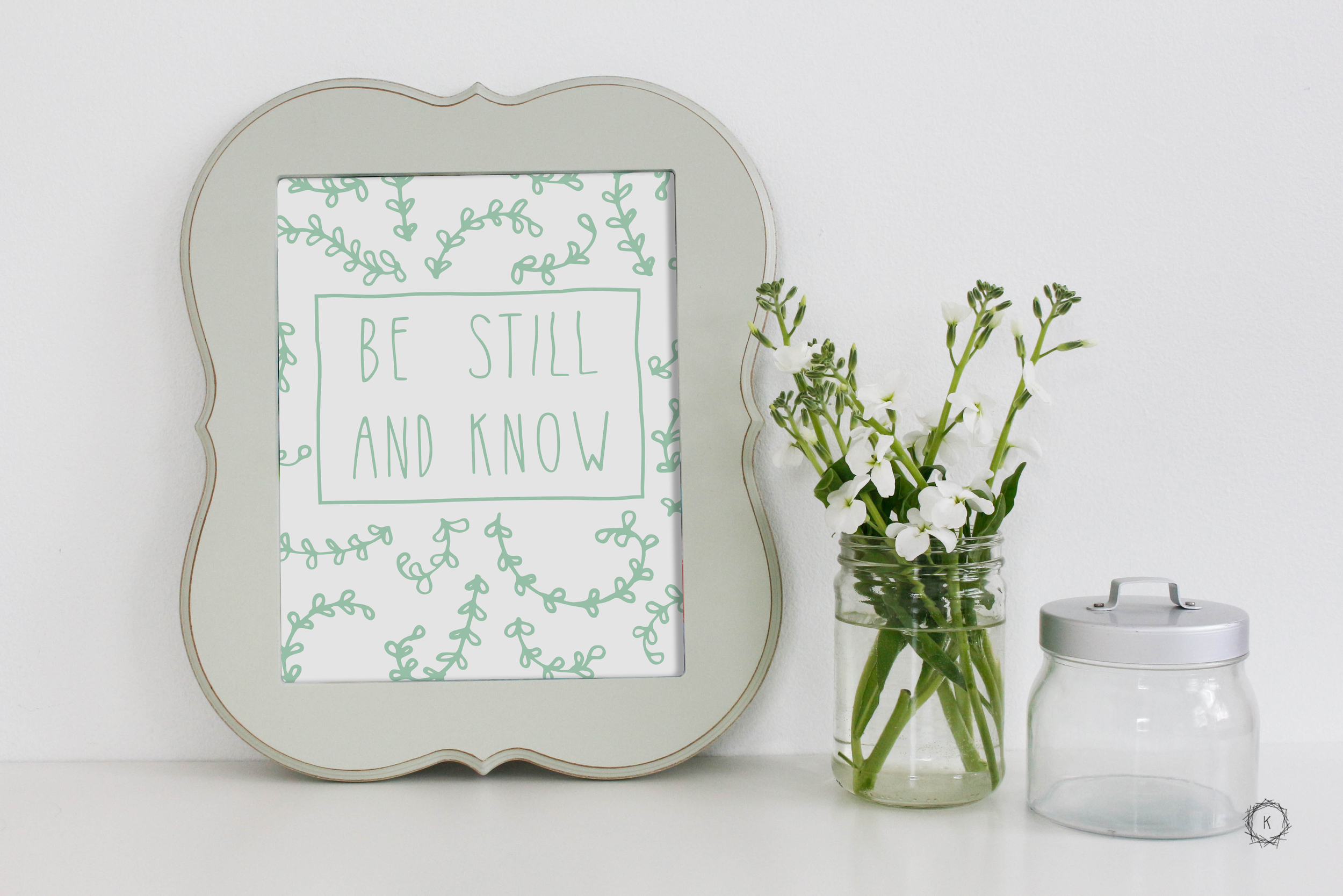 Hand Lettered 'Be Still and Know' Print // Inspired by Psalm 46:10