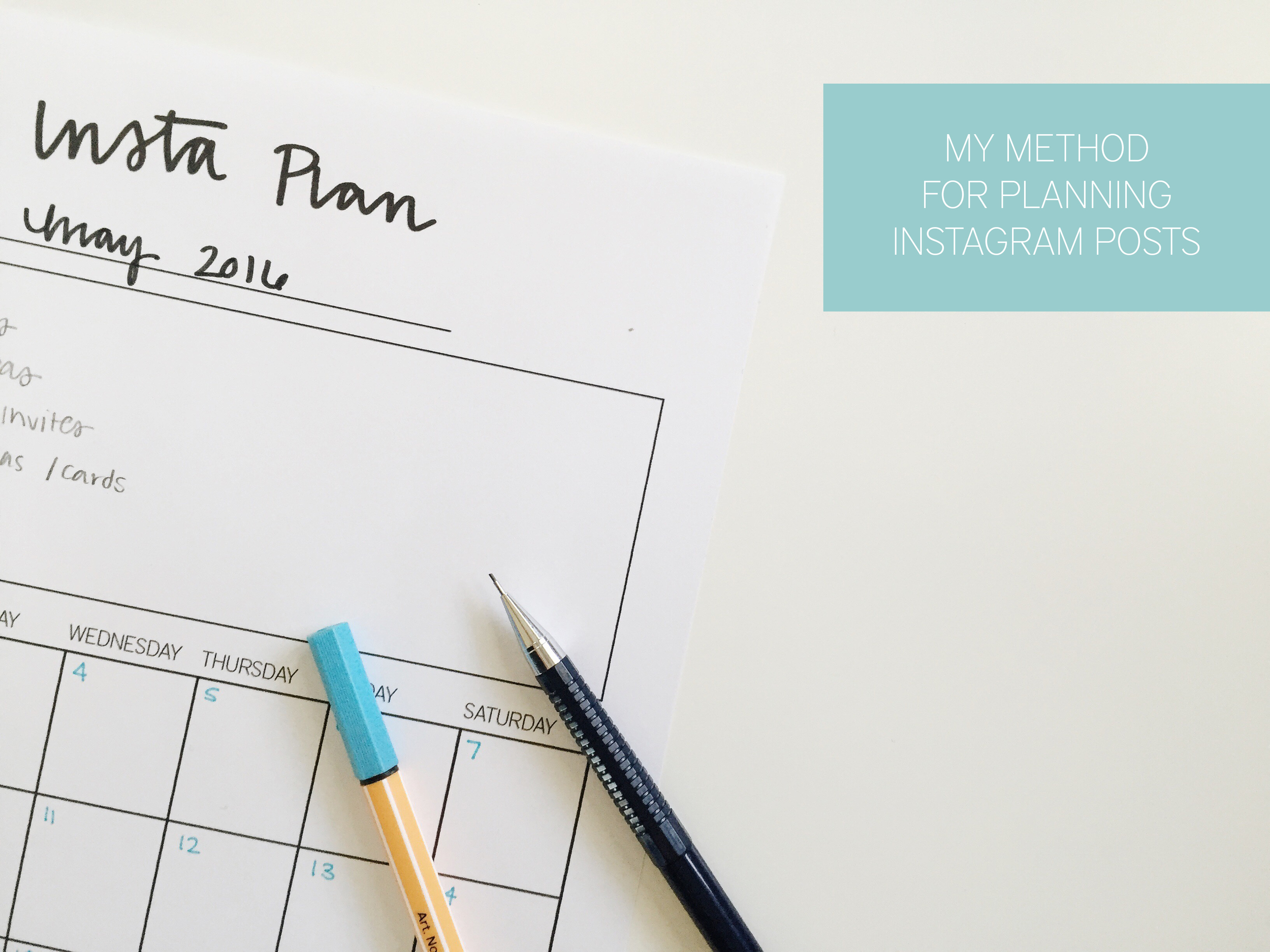 My Method for Planning Instagram Posts // Machelle Kolbo Design Studio