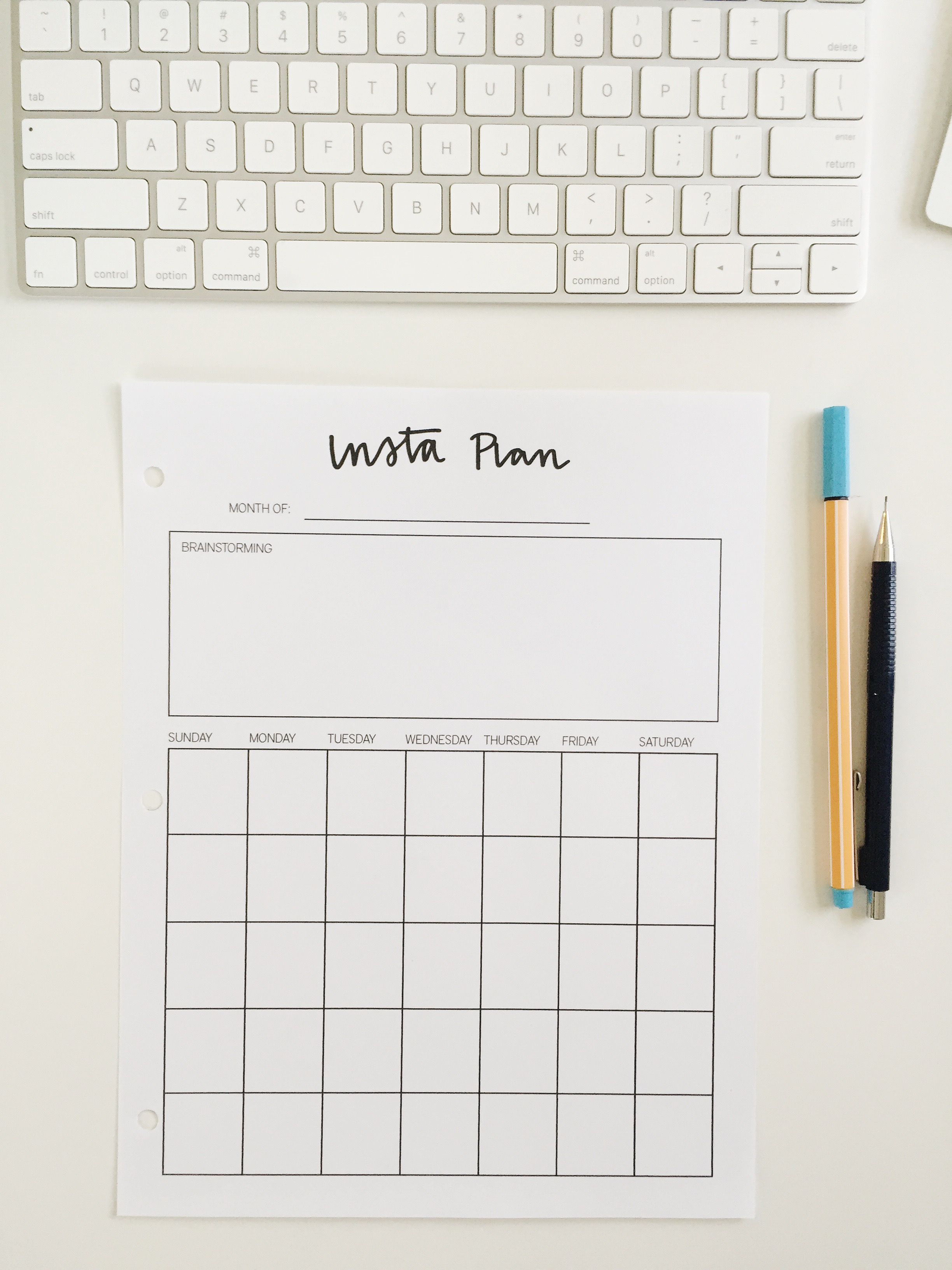 Free Instagram Planning Resource // Machelle Kolbo Design Studio