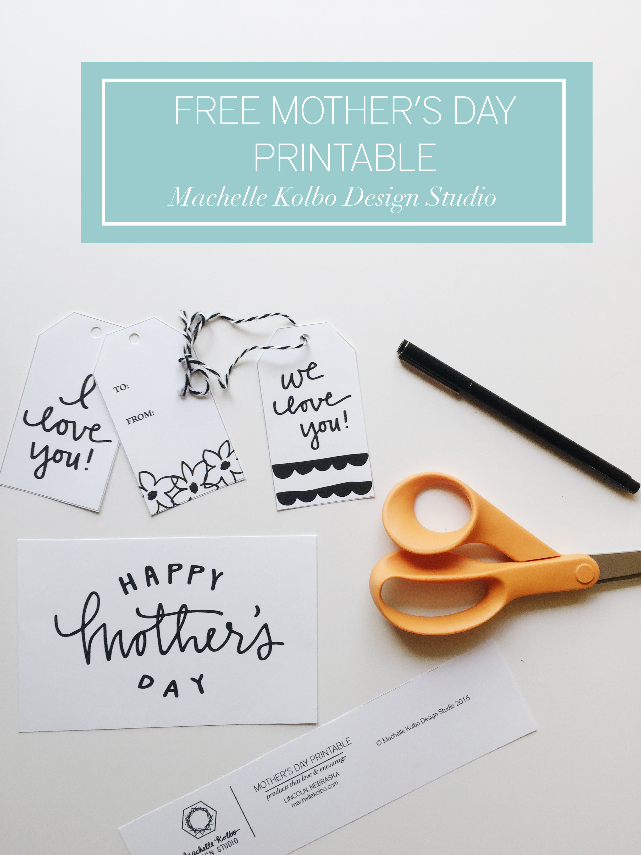 Free Mother's Day Printable // Machelle Kolbo Design Studio