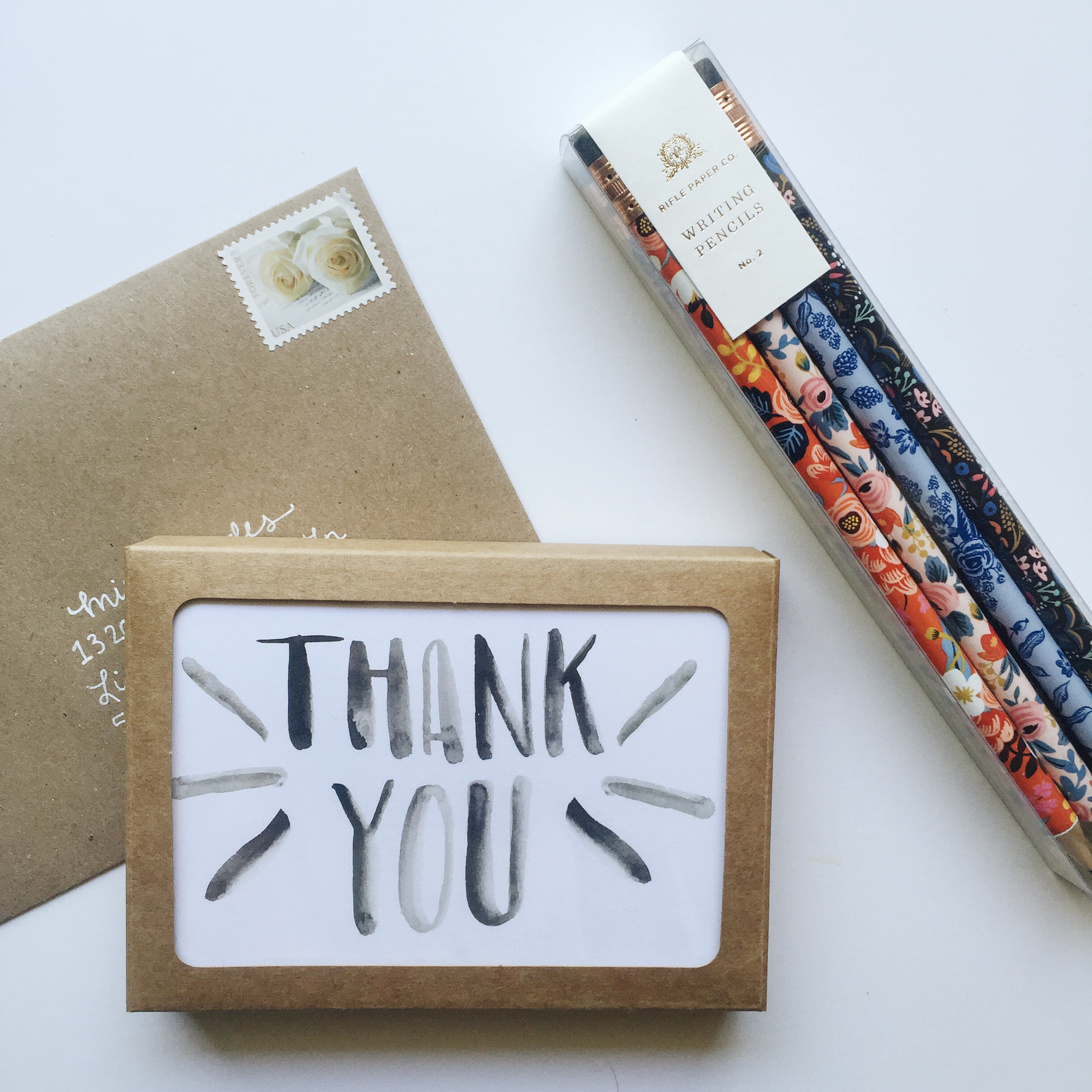 Stationery, stamps and cute writing supplies is a fun gift to encourage snail mail!