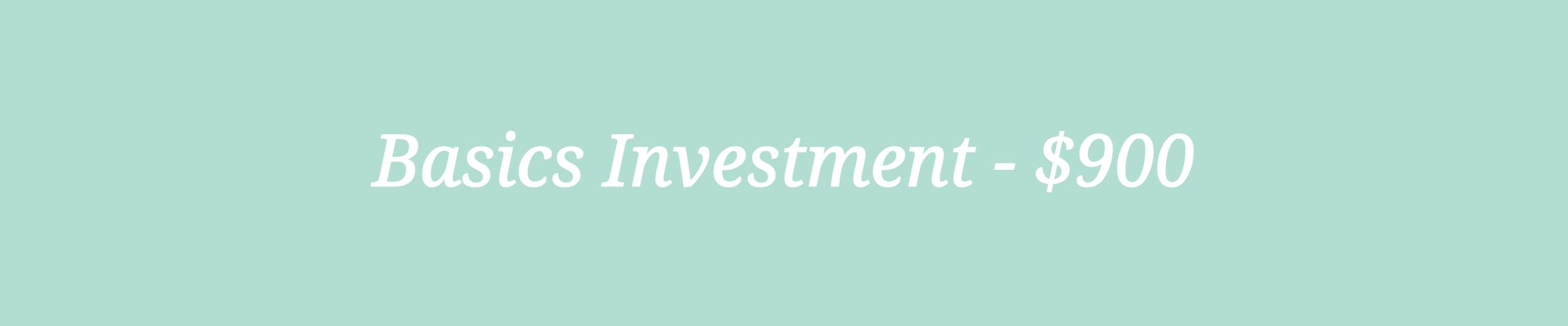 Basics Investment Machelle Kolbo Design Studio
