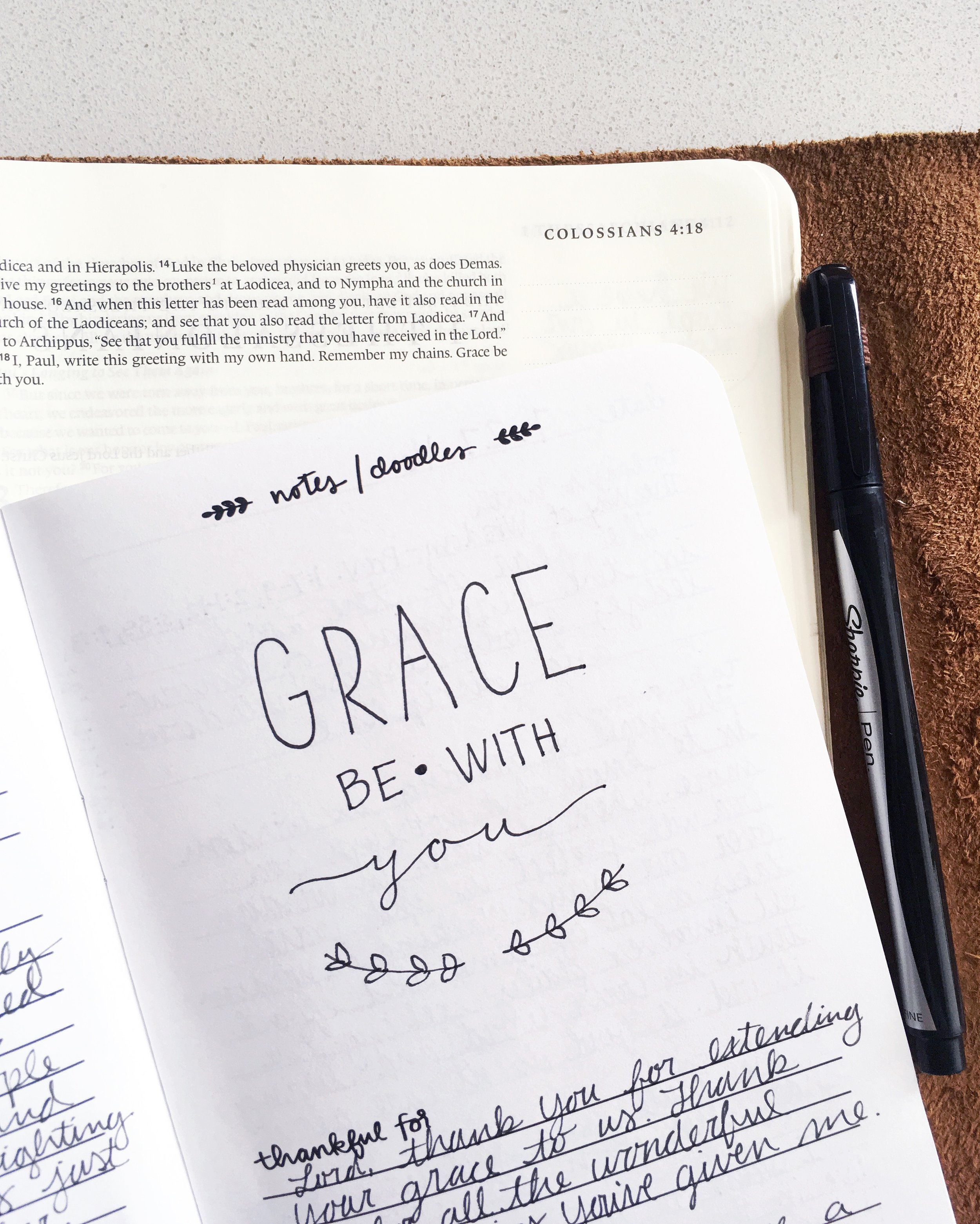 Dwell Deeply Doodle | Grace be with you | by Susanna Zach