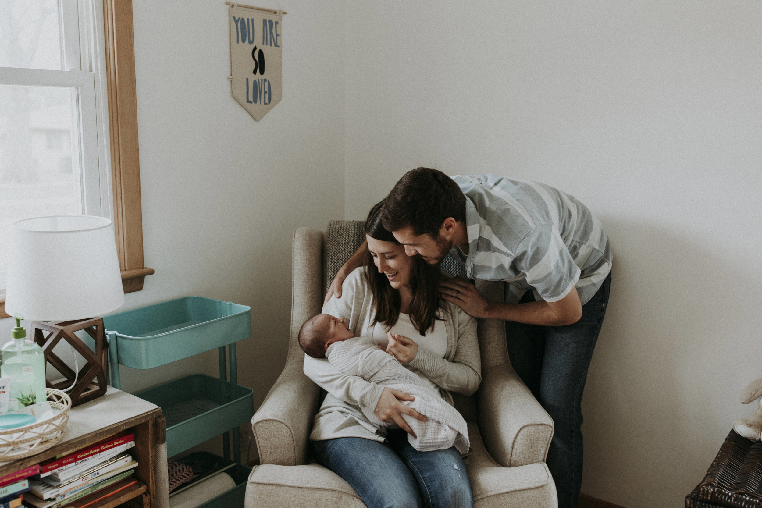 Our family photos with brand new Owen | taken by Brooke Confer Photography