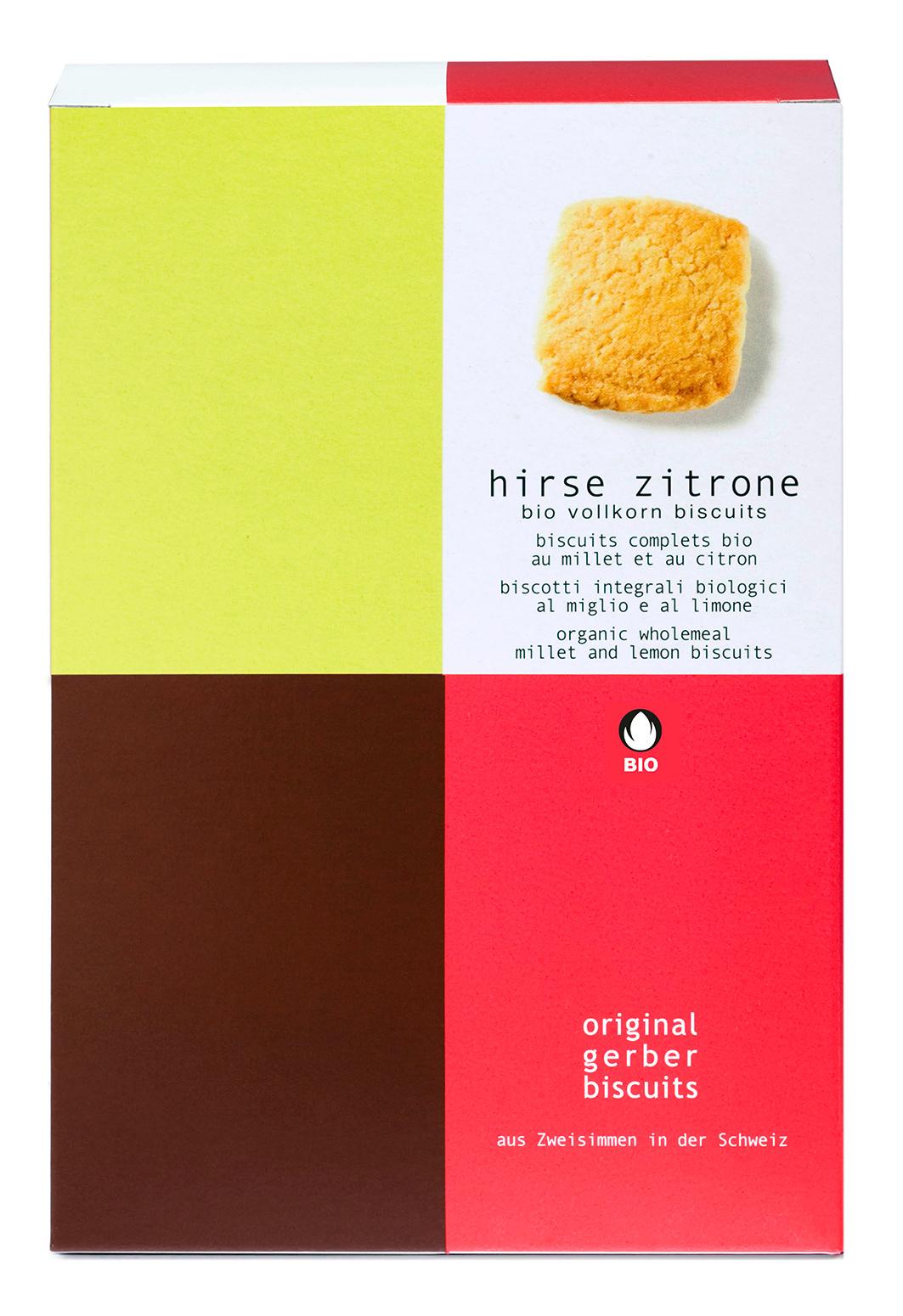 Bio Hirse Zitrone Biscuits