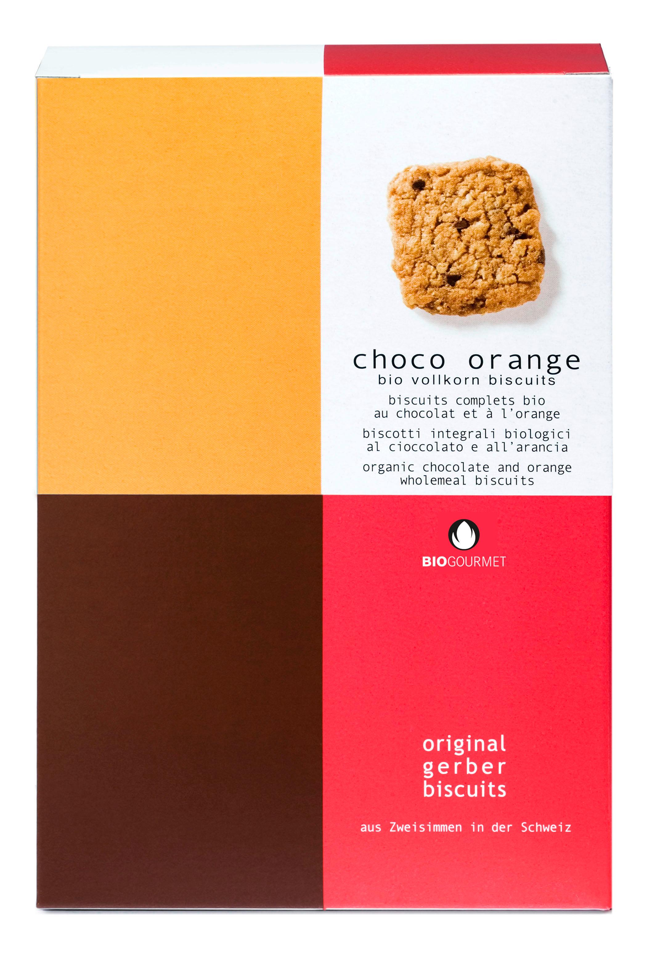 Bio Choco Orange Biscuits
