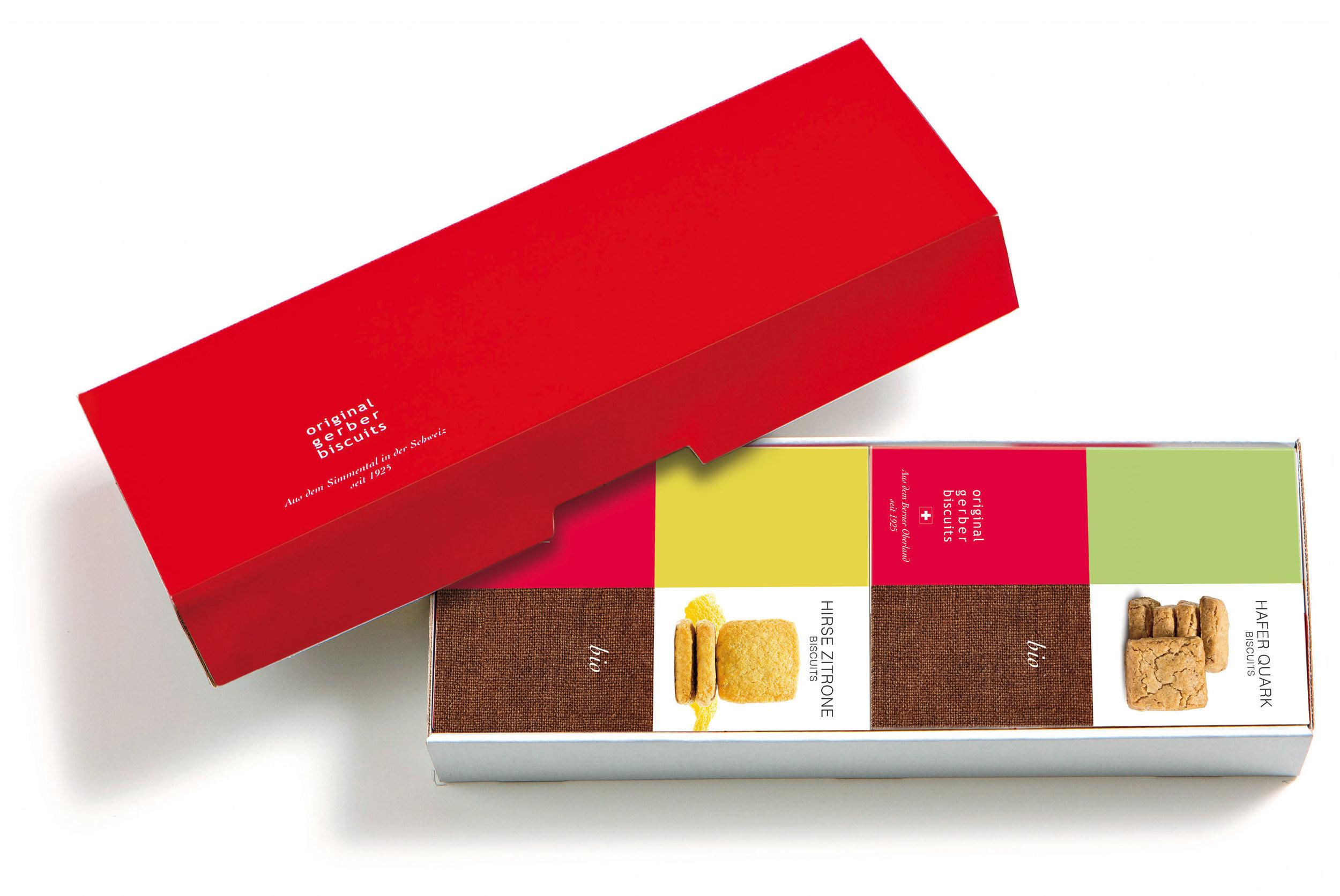 GESCHENKSCHACHTELFÜR ZWEI BISCUIT-PACKUNGEN à 160g - Das frische, dezente Design der Geschenkpackungen passt zu jeder Gelegenheit.So macht Schenken Freude!Unser Tipp: Mit einem hübschen Geschenkband versehen erhält jede Geschenkschachtel ihre ganz persönliche Note.