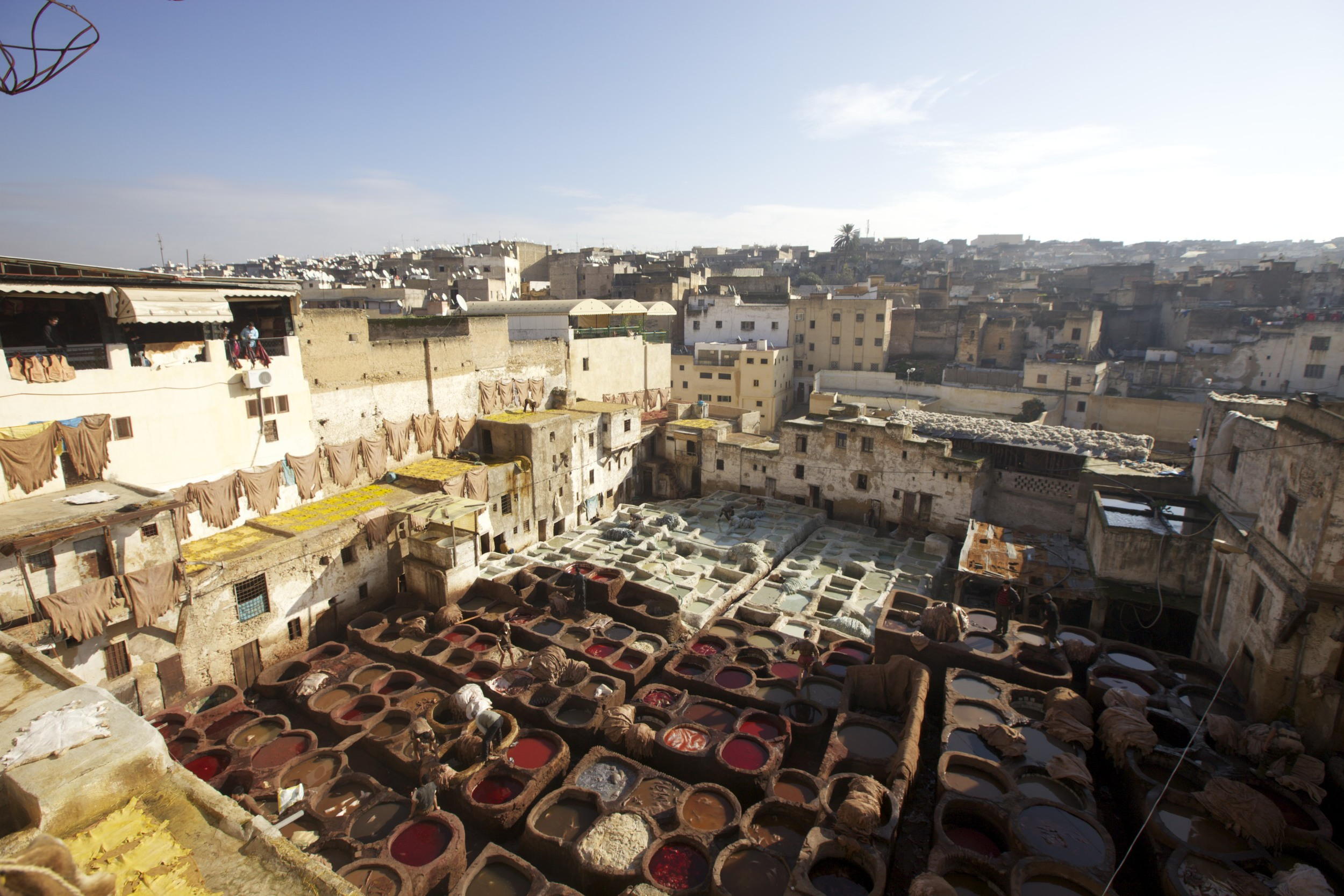 The tannery in Fes.
