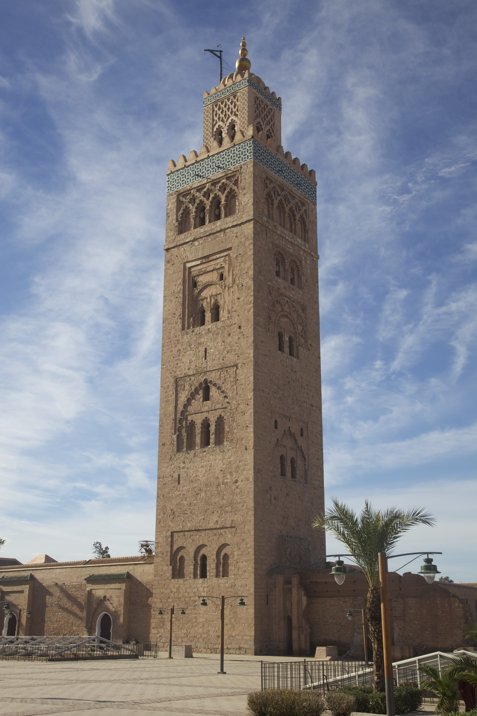 The minaret of Koutoubia Mosque in Marrakech.
