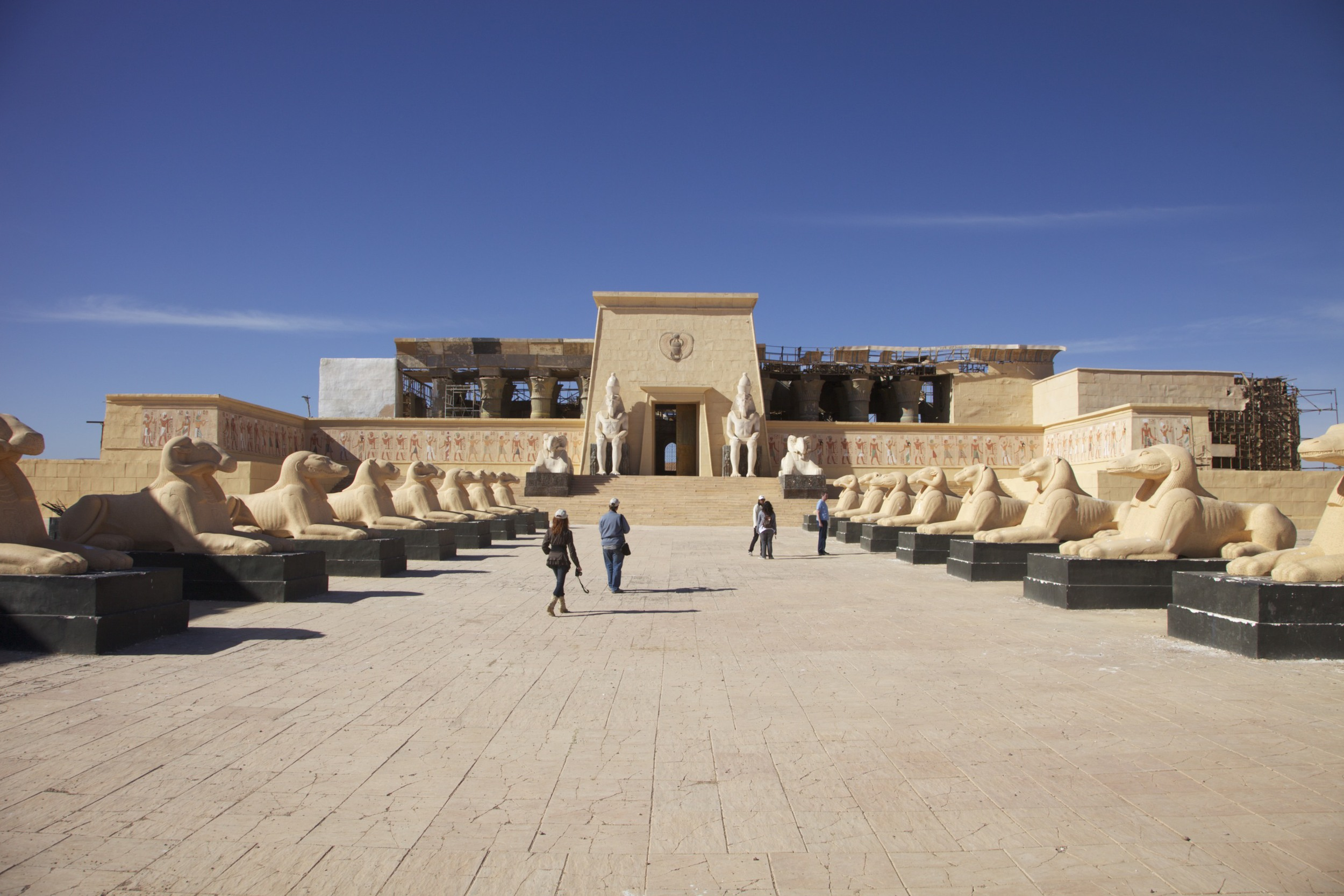 "A set from ""The Mummy Returns"" at Atlas Studios in Ouarzazate."