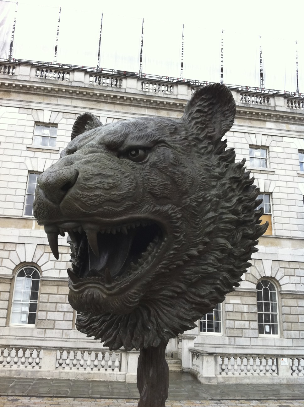 One of the 12 very cool zodiac bronzes by Ai WeiWei at Somerset House.
