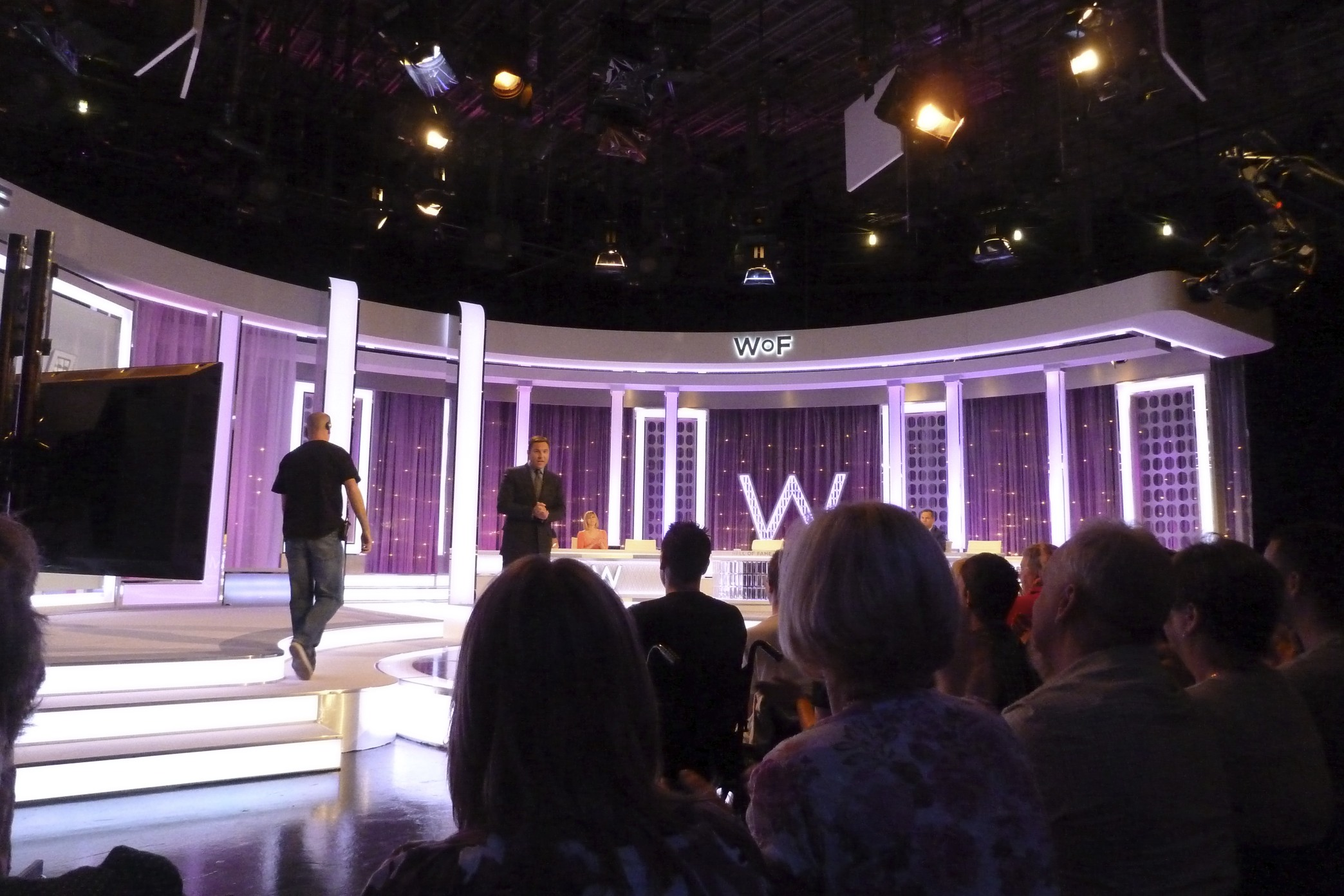 """At a TV taping for a show called """"David Walliams' Wall of Fame"""" north of London in Borehamwood. It's a fairly stupid show though somewhat dependent on the guests. But David Walliams is always pretty funny."""
