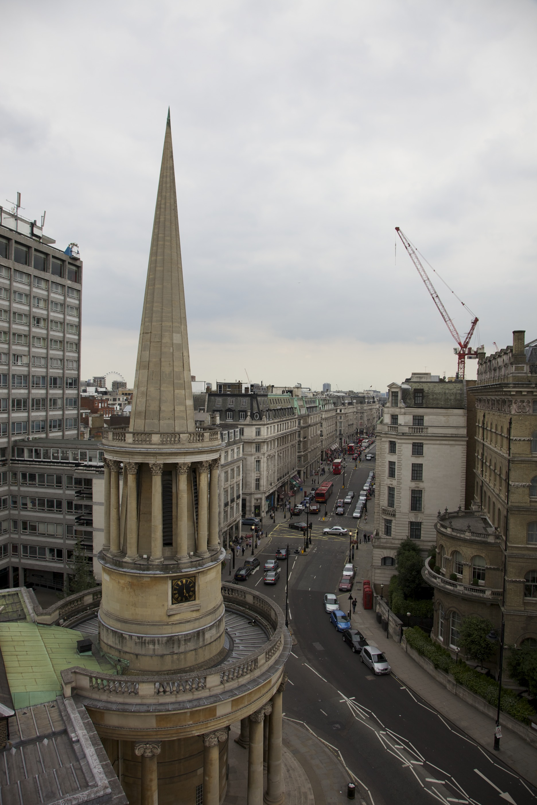 All Soul's Church as viewed from BBC Broadcasting House roof.