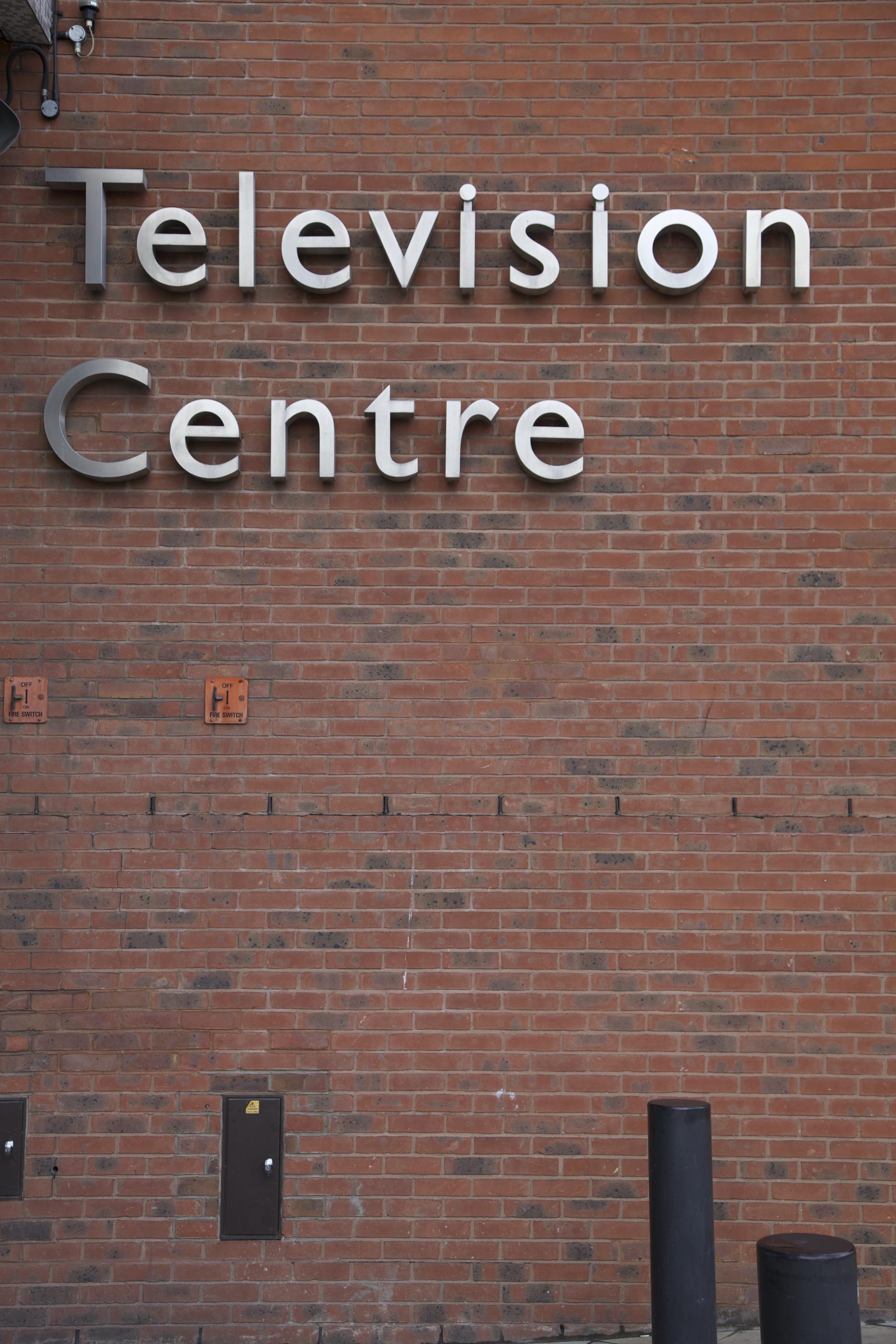 Outside BBC Television Centre.