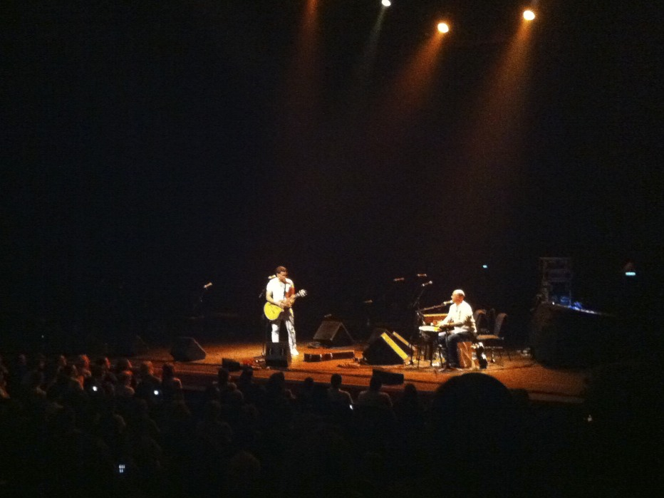 """Ramy Essam, an Egyptian singer who was tortured by Mubarak's men inside the Egyptian Museum during the Egyptian Revolution, performs at """"A Night in Tahrir Square"""" at the Barbican Theatre."""