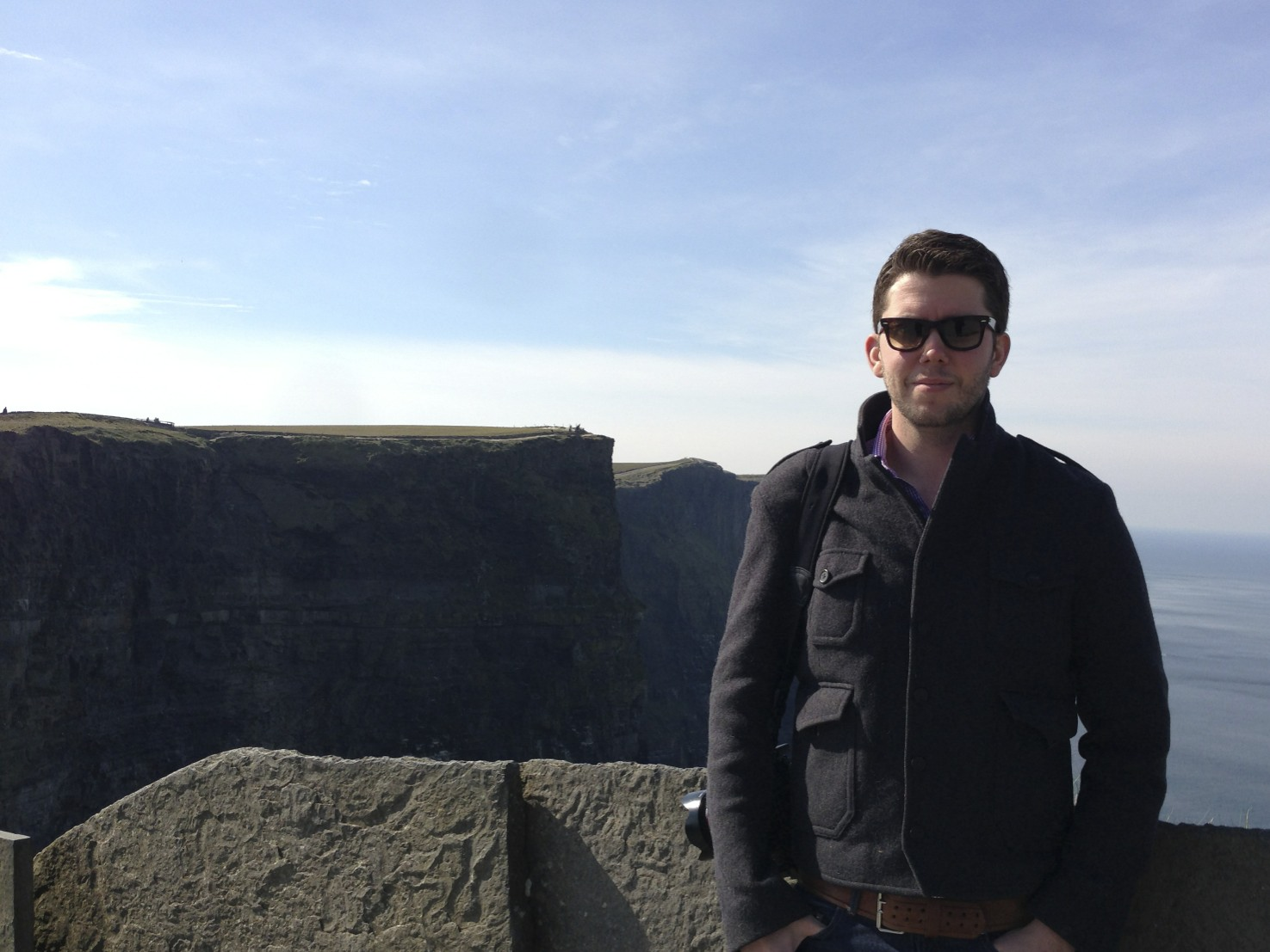 Me at the Cliffs of Moher.  (Ireland.)