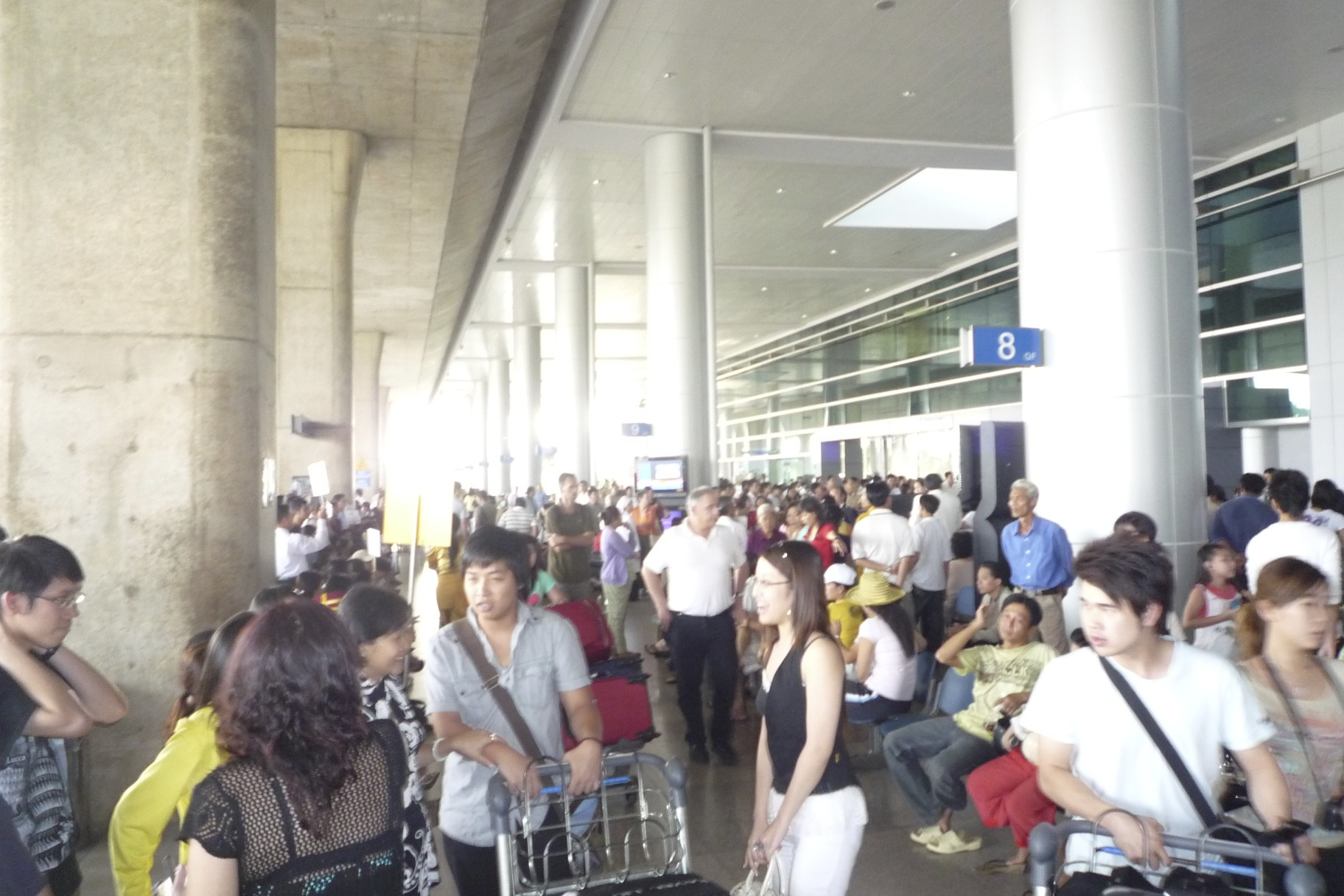 Arrival in Ho Chi Minh.
