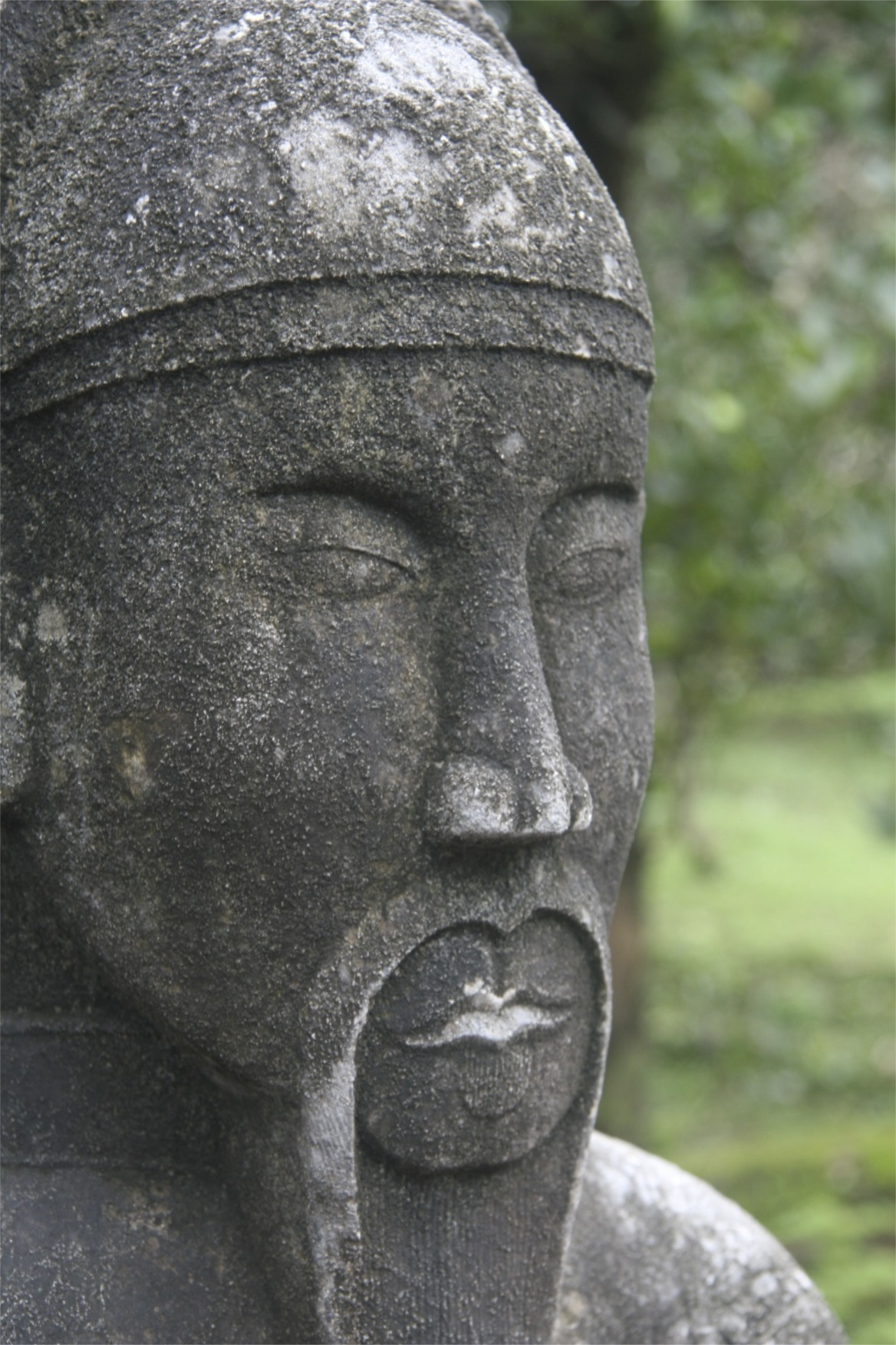 Cool statue at the tombs in Hue.