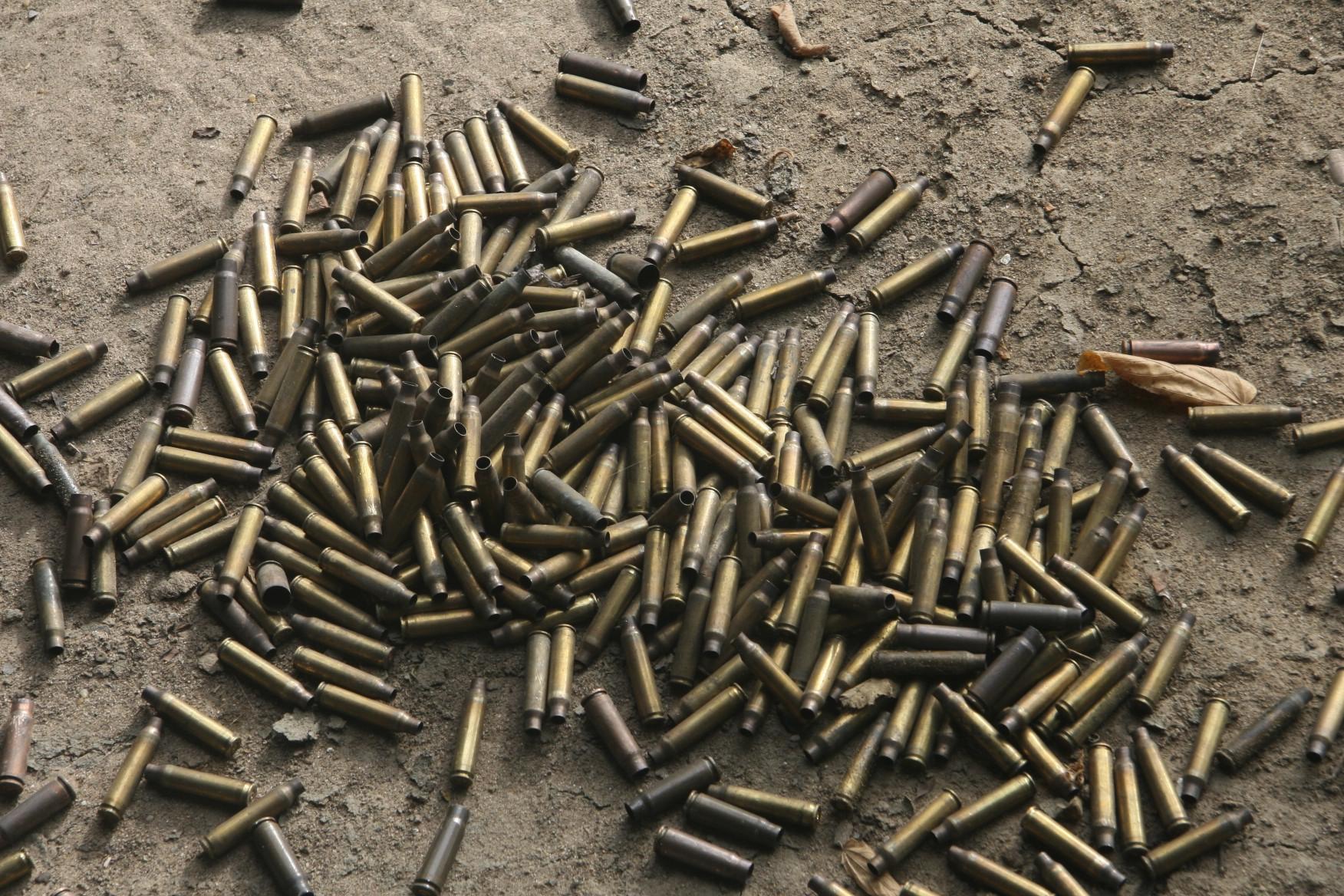 Shells after we shot at a target.